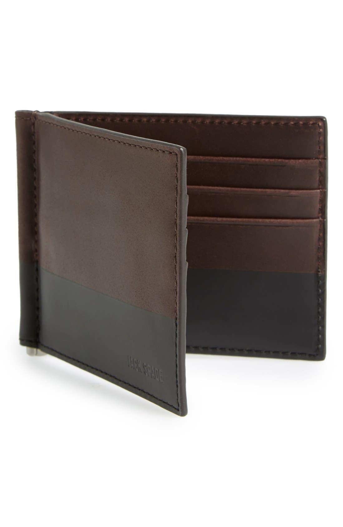 JACK SPADE,                             Leather Money Clip Wallet,                             Alternate thumbnail 2, color,                             203