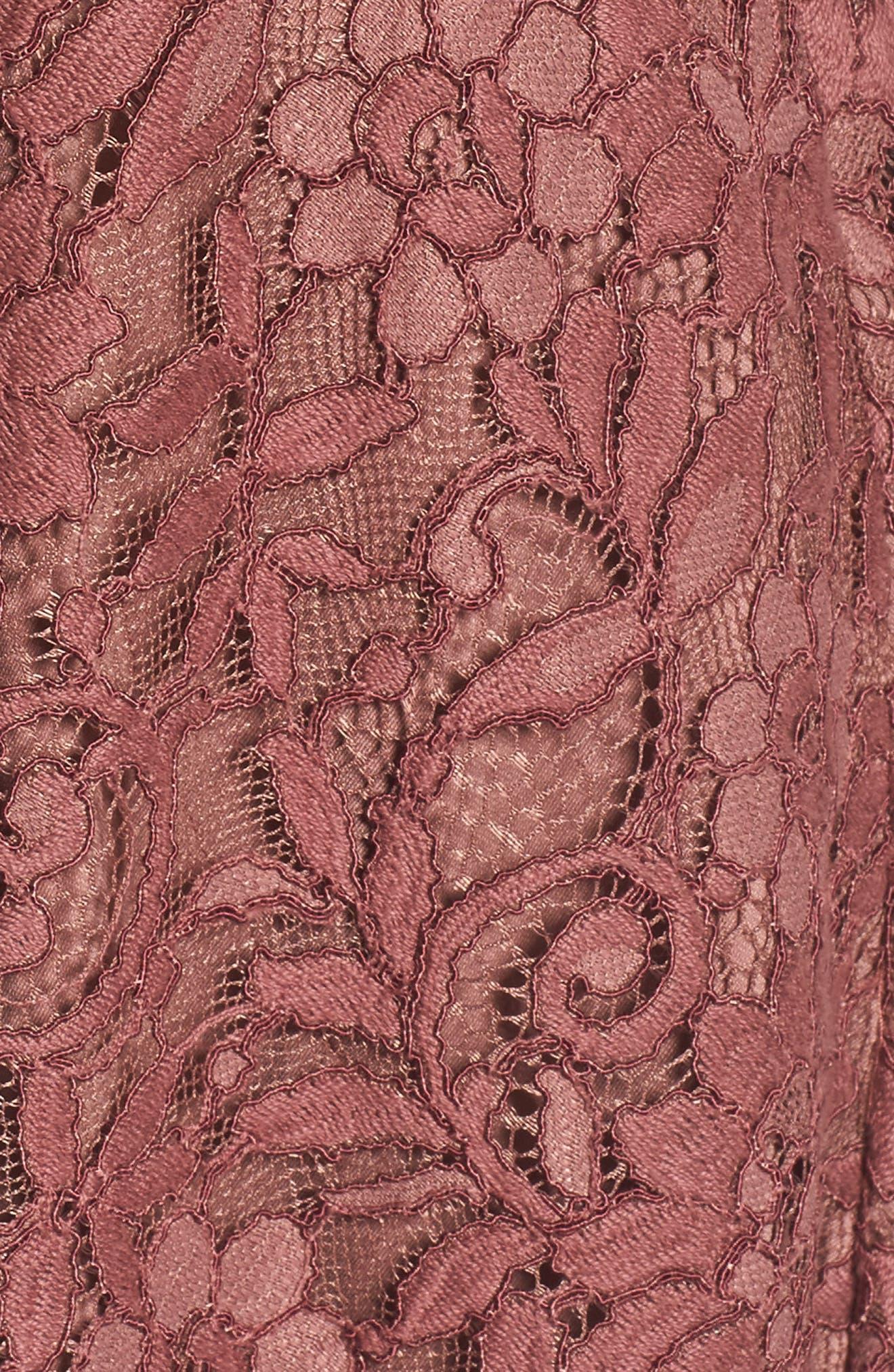 Jonas Lace Fit & Flare Dress,                             Alternate thumbnail 5, color,                             201