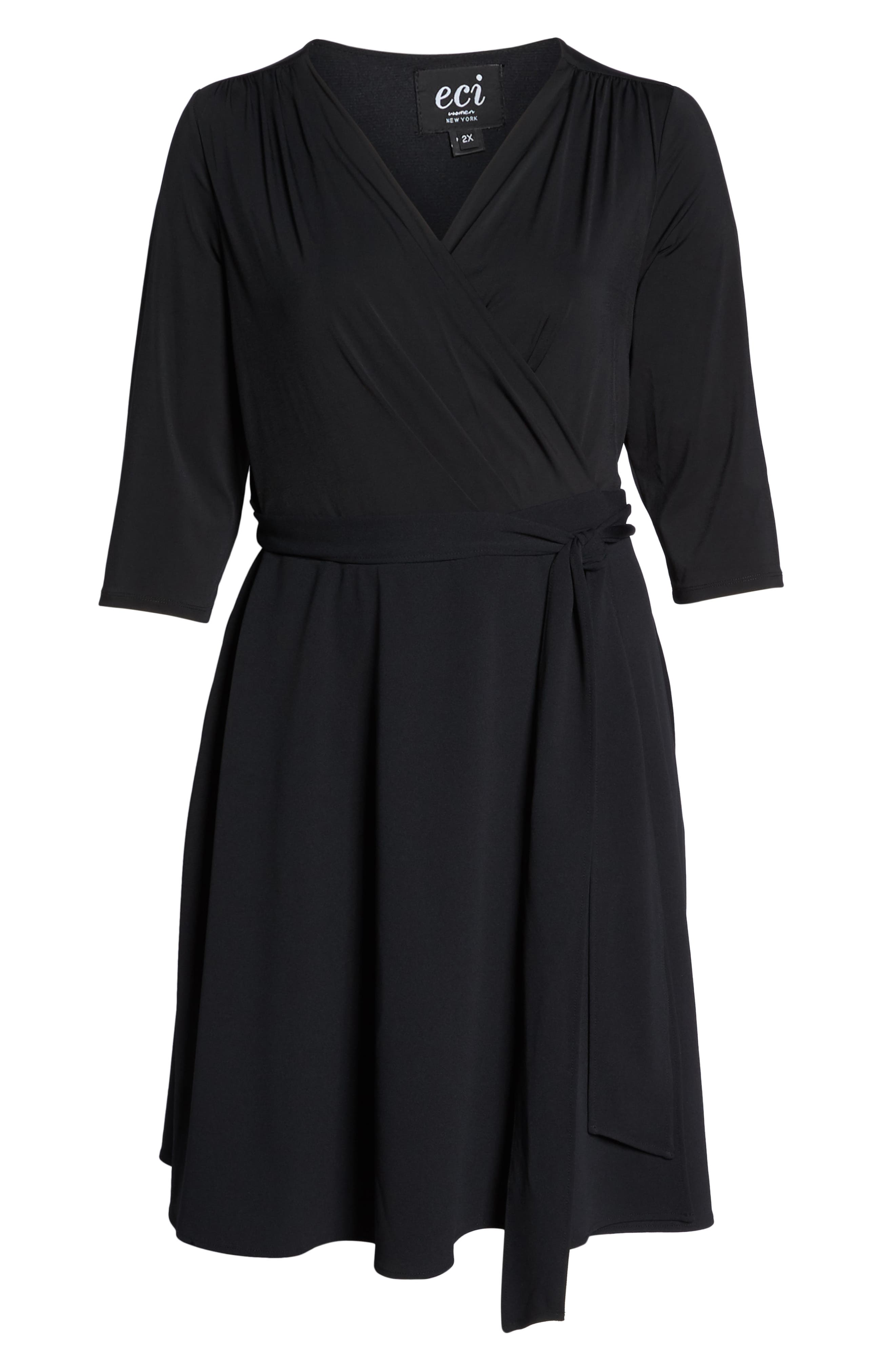 ECI,                             Wrap Dress,                             Alternate thumbnail 7, color,                             001