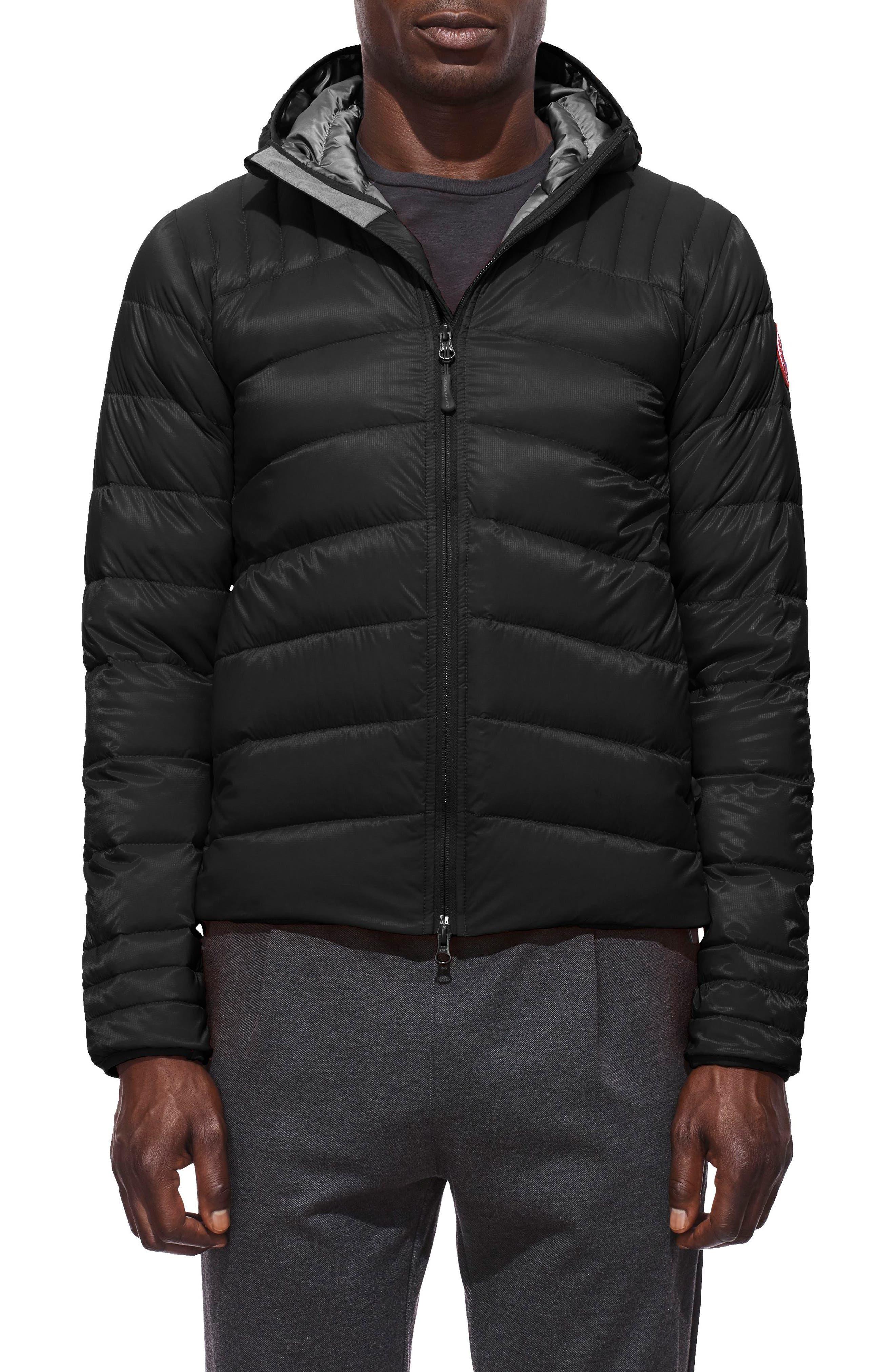 Canada Goose Brookvale Slim Fit Hooded Down Jacket, Black