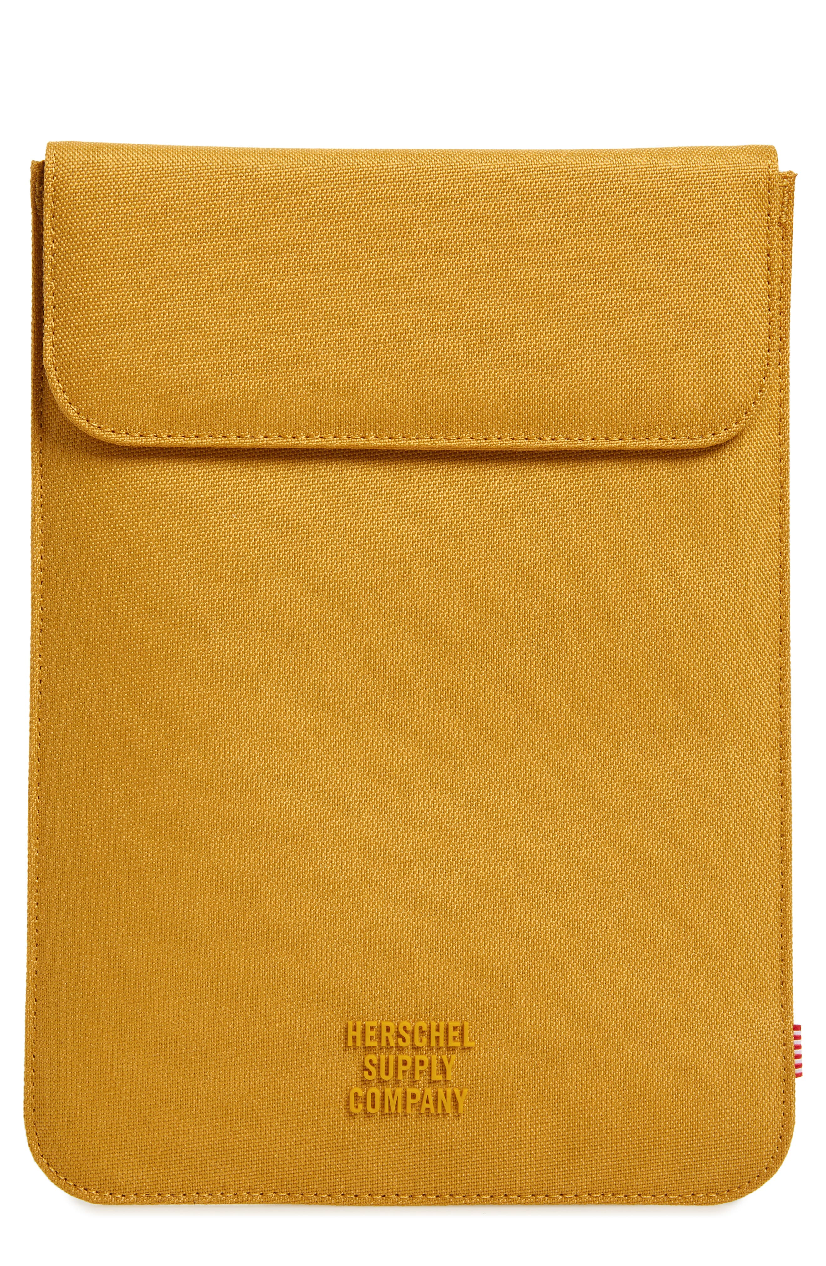 HERSCHEL SUPPLY CO. Spokane iPad Air Canvas Sleeve, Main, color, ARROWWOOD