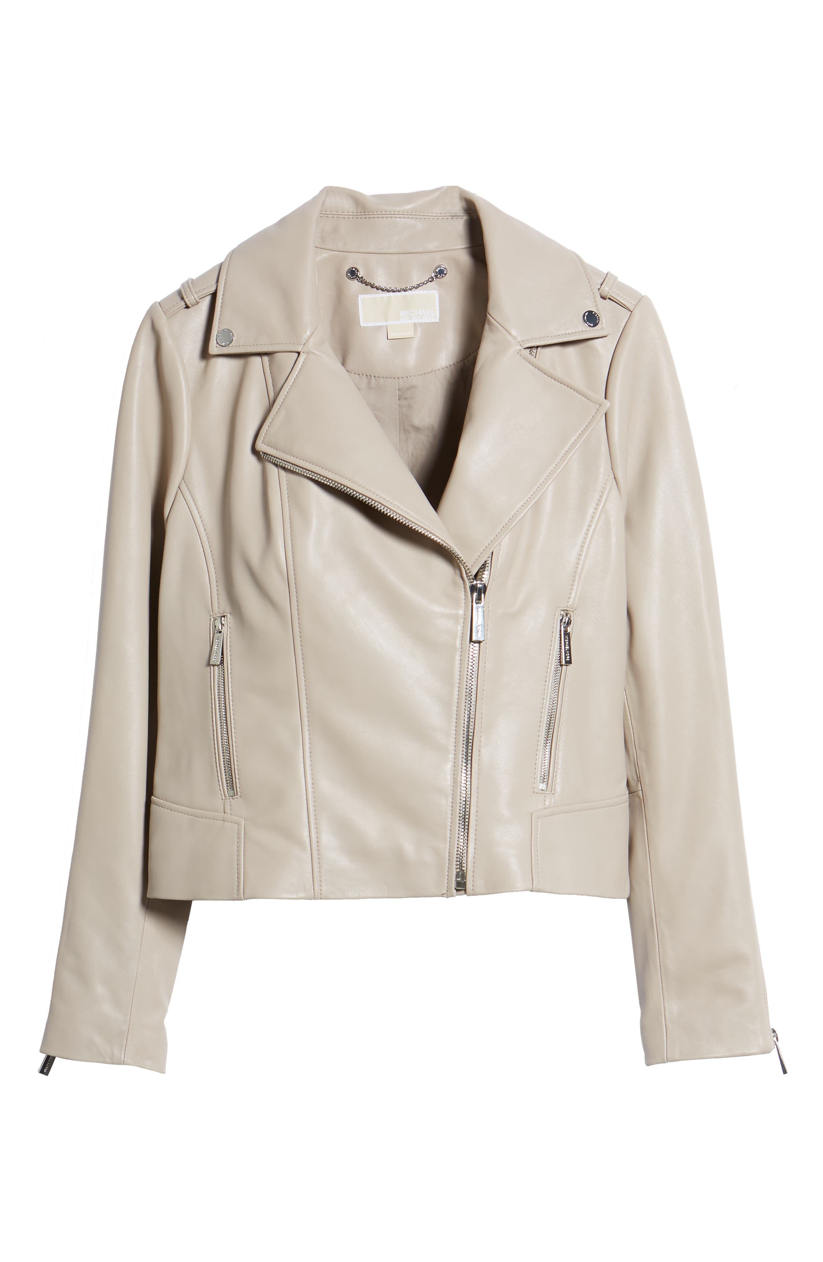 Classic Leather Moto Jacket,                             Alternate thumbnail 11, color,
