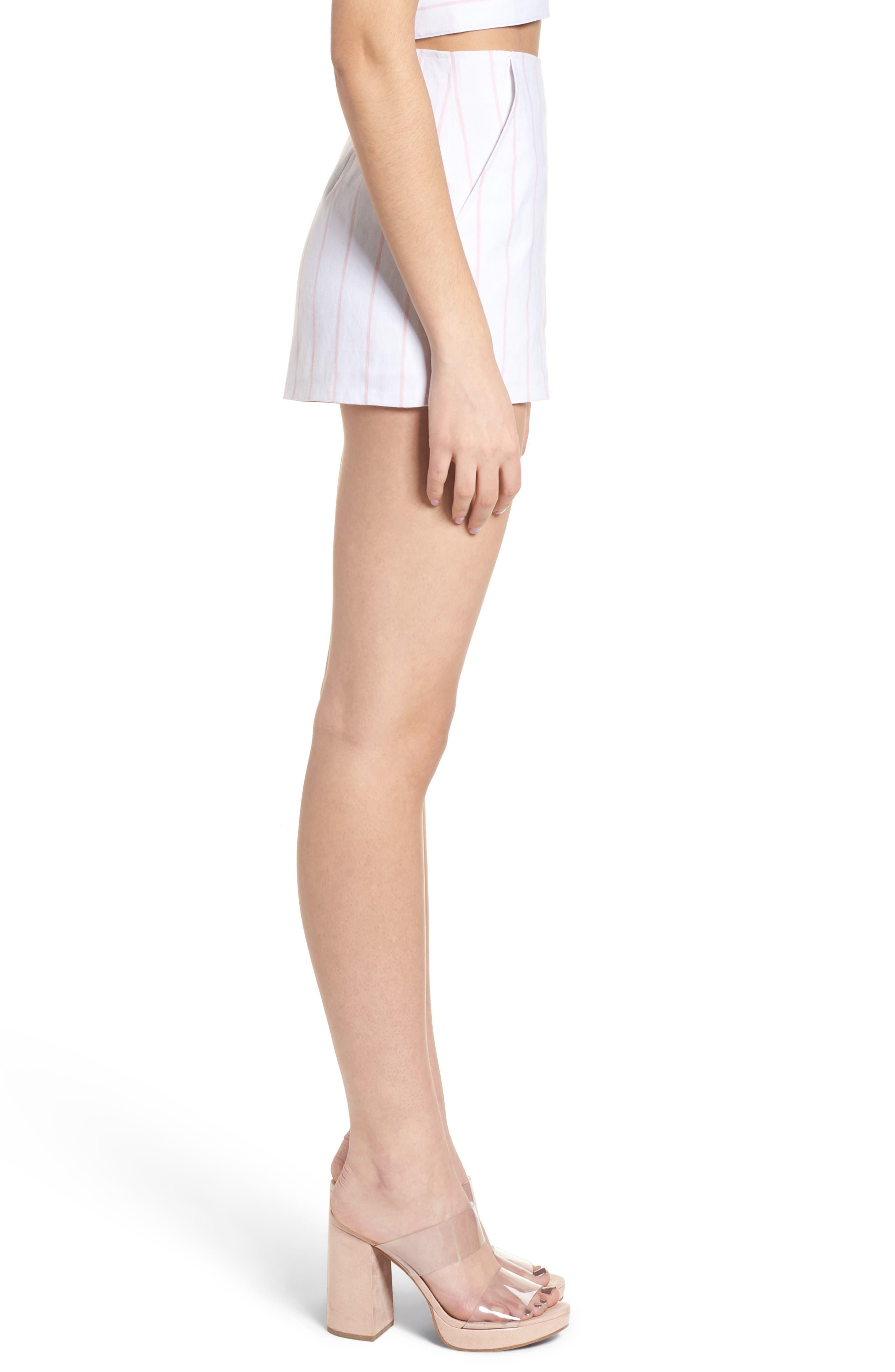 High Waist Linen Blend Shorts,                             Alternate thumbnail 12, color,