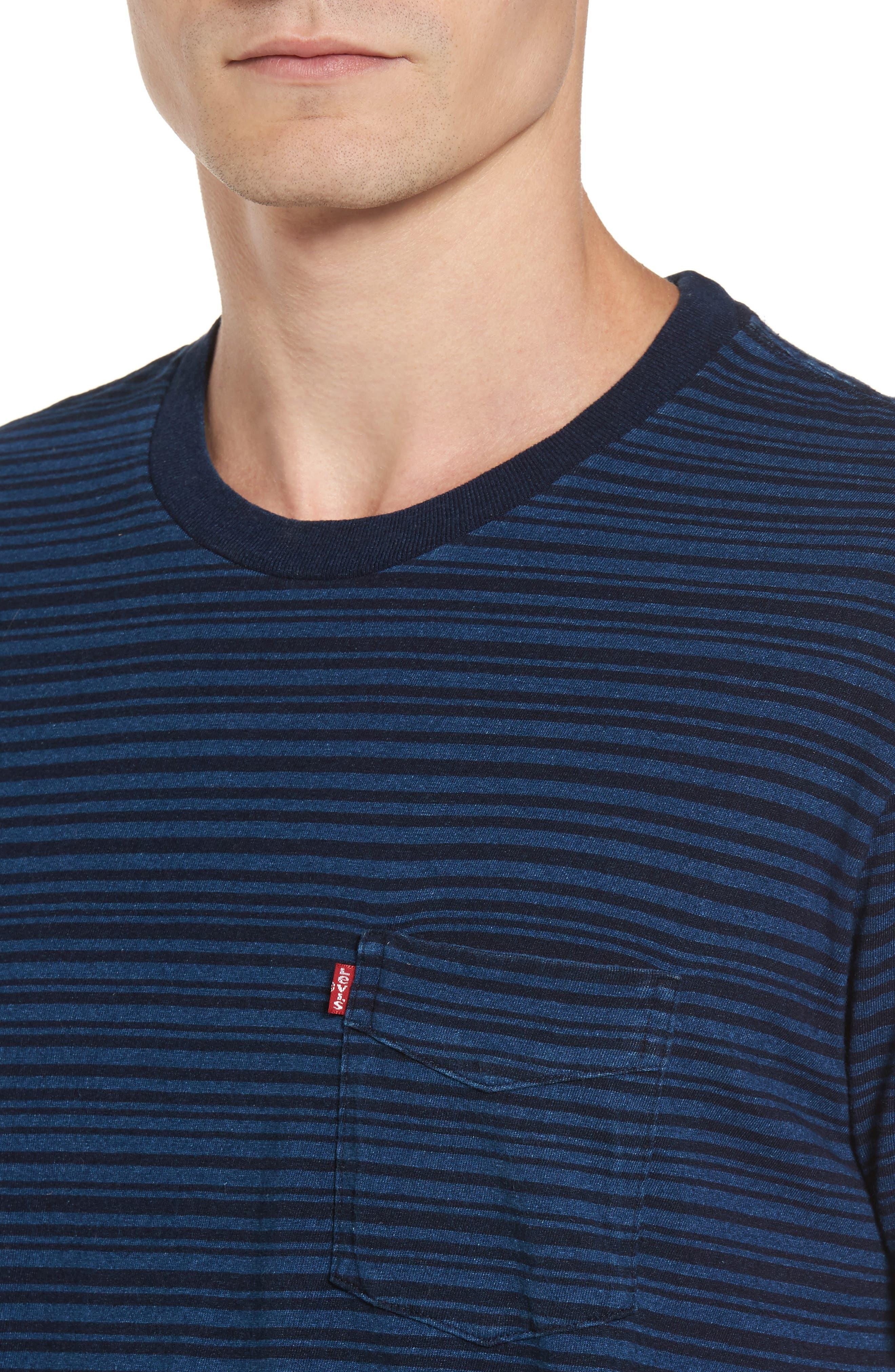 Stripe Pocket T-Shirt,                             Alternate thumbnail 4, color,                             400