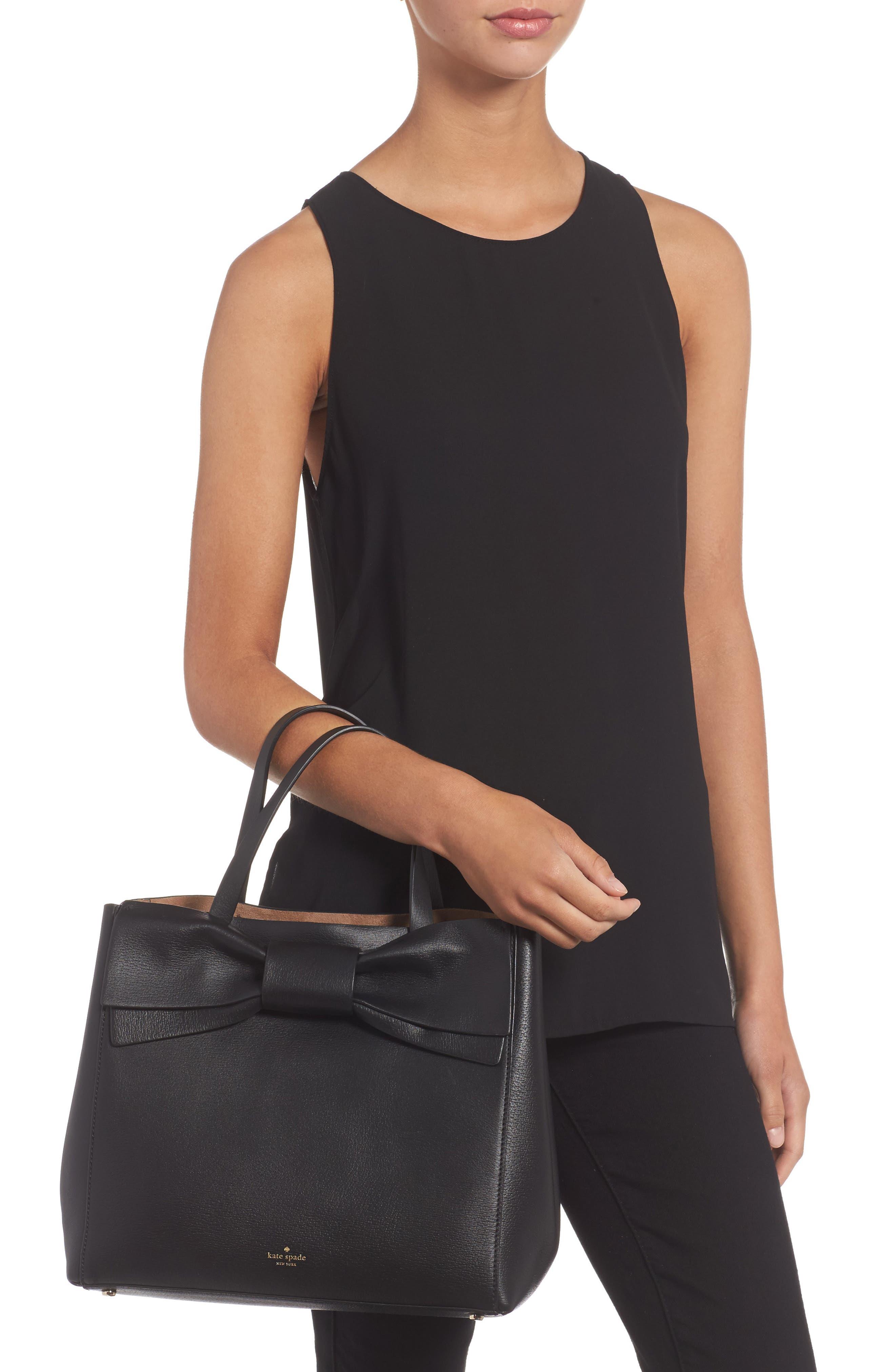 olive drive - brigette leather satchel,                             Alternate thumbnail 2, color,                             001