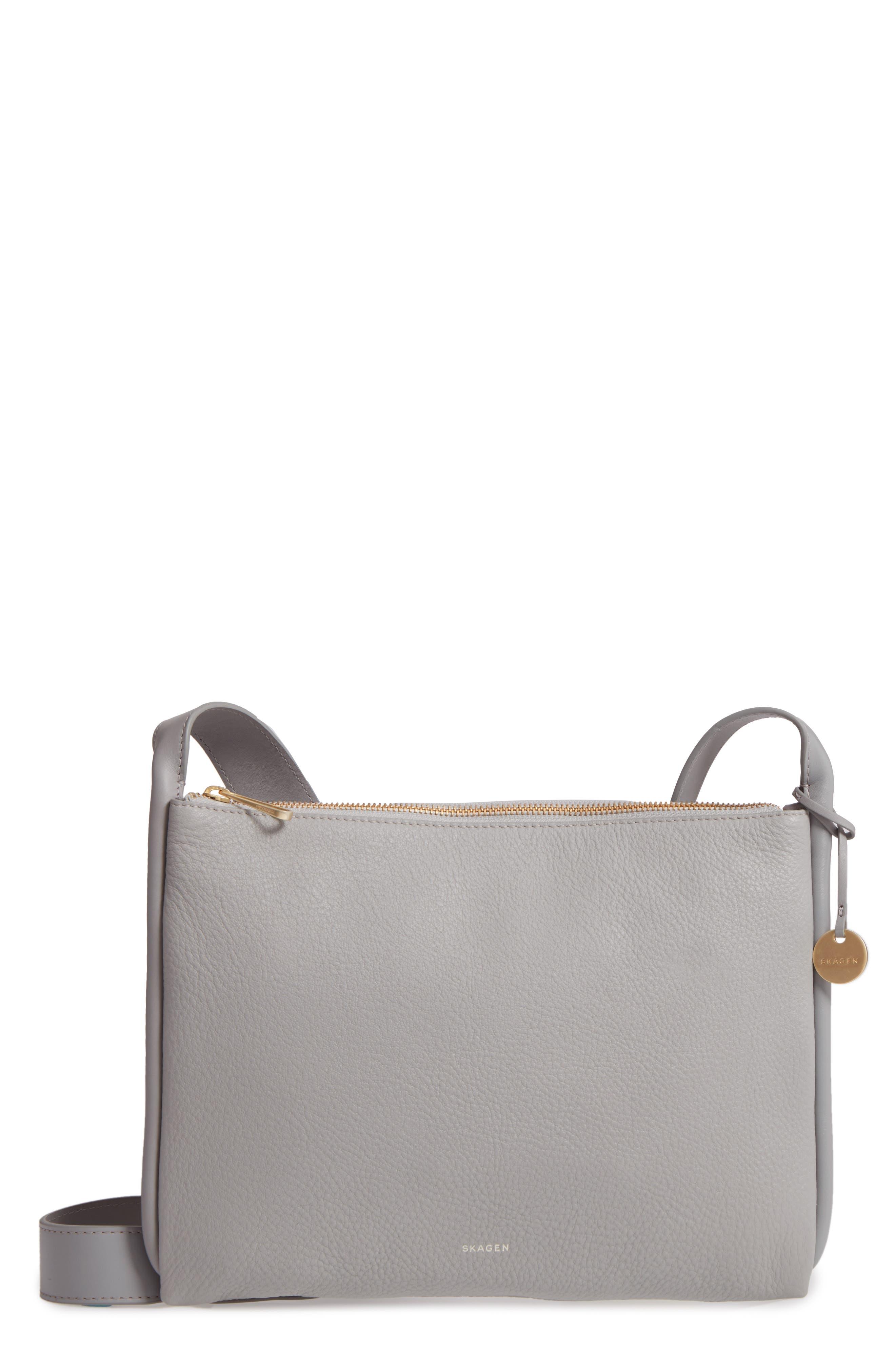 Slim Anesa Leather Crossbody Bag,                         Main,                         color, 021