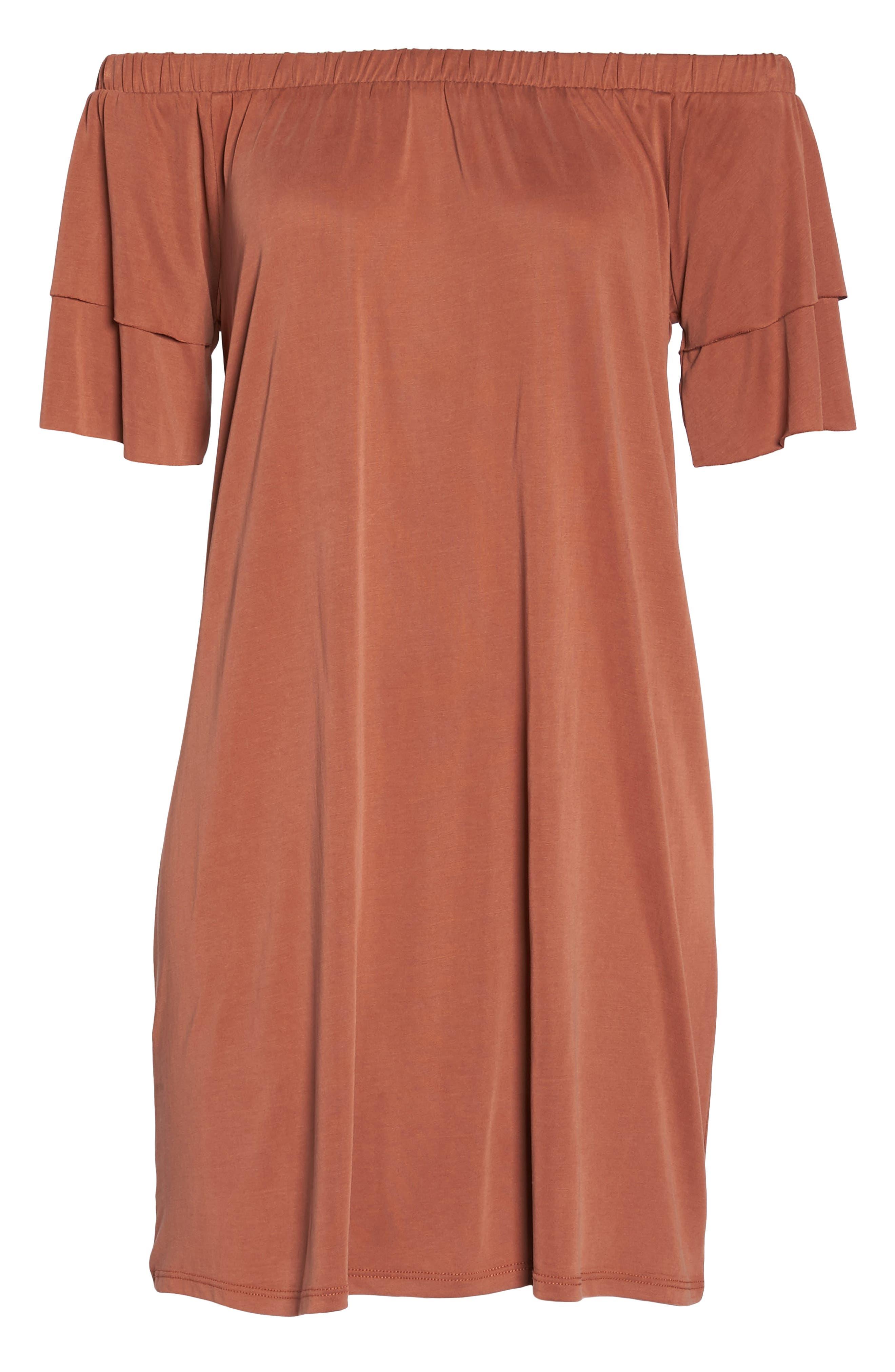 Off the Shoulder Dress,                             Alternate thumbnail 12, color,