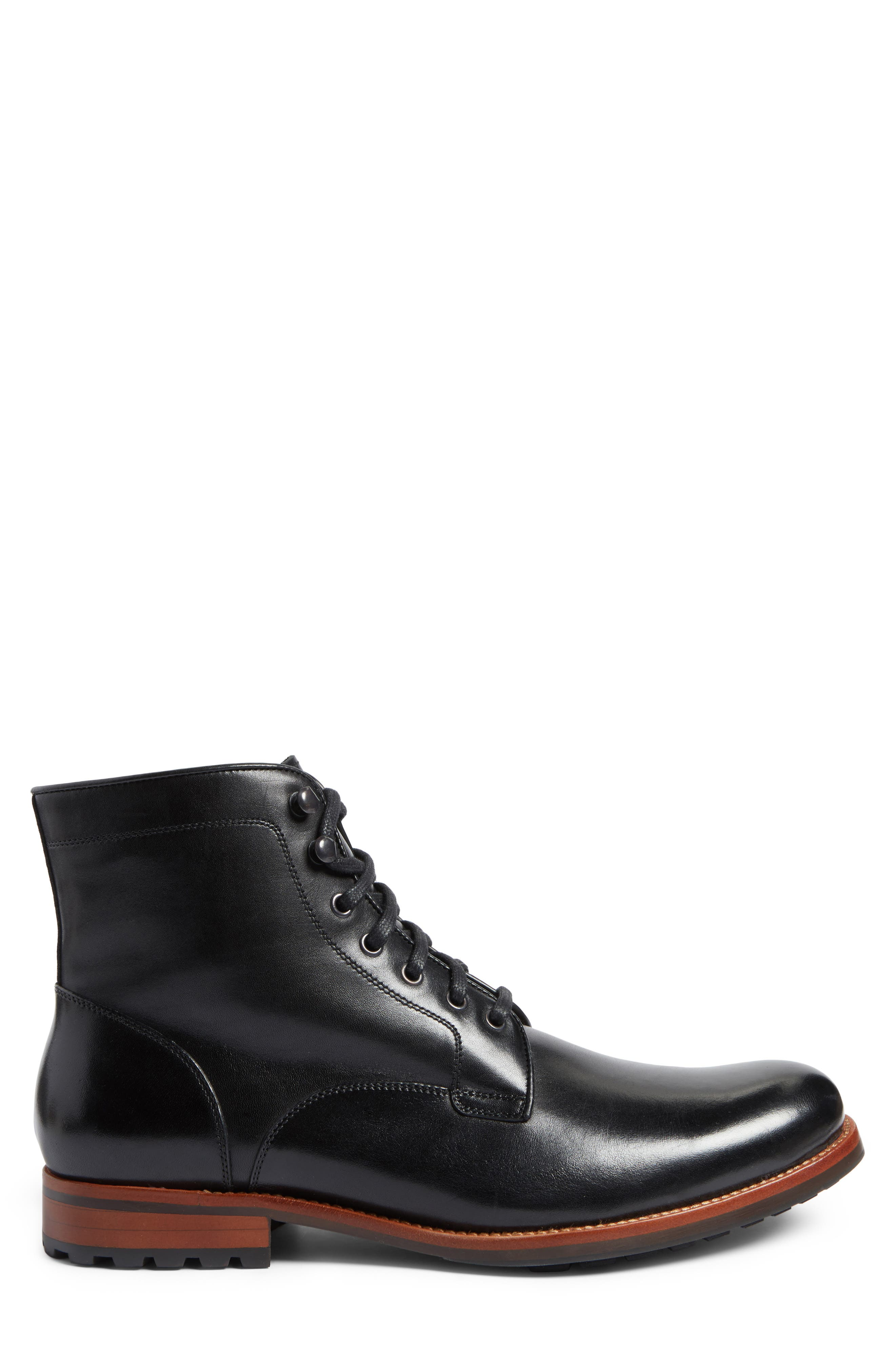 Axeford Plain Toe Boot,                             Alternate thumbnail 3, color,                             001