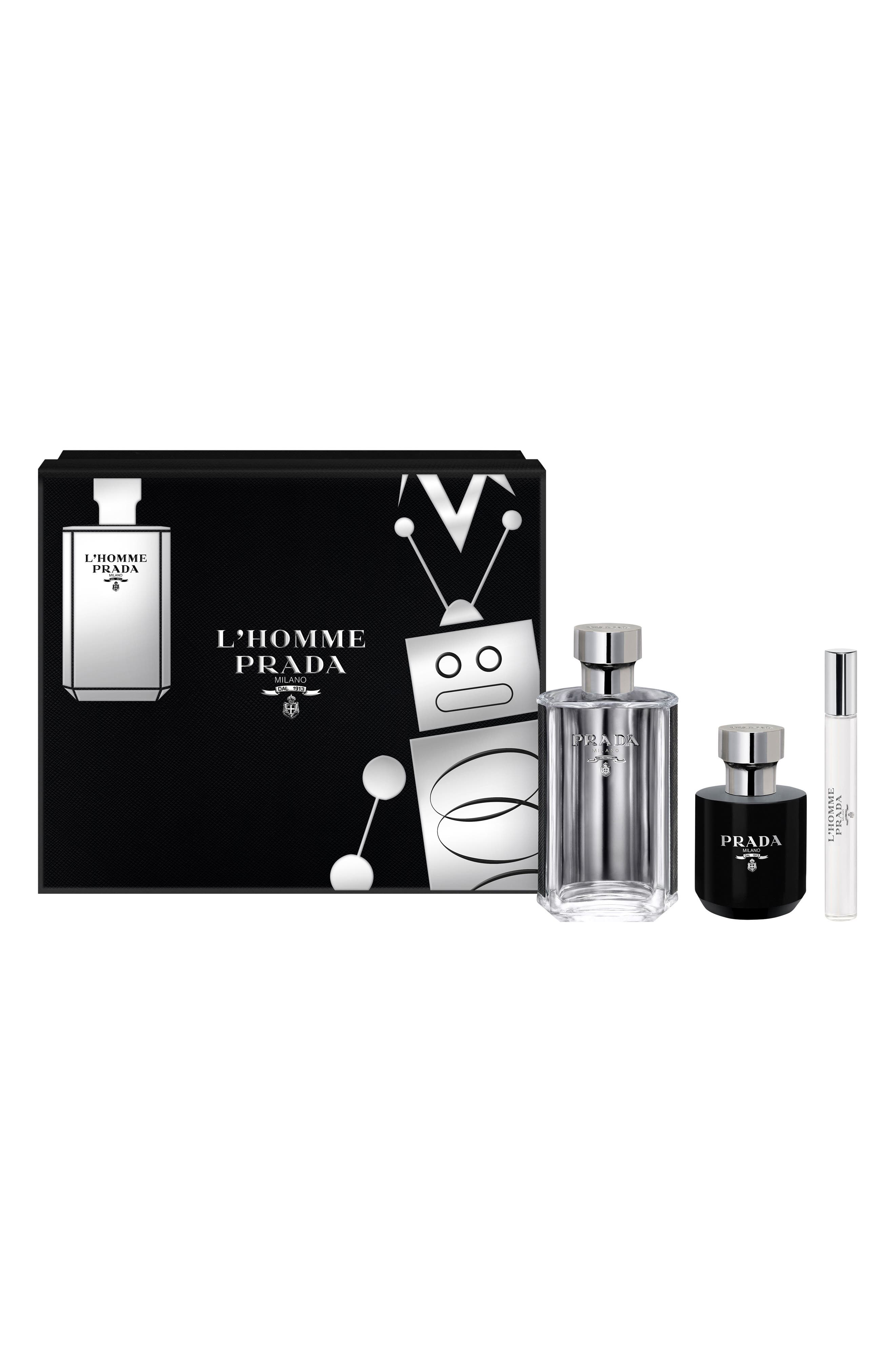 L'Homme Prada Set,                             Main thumbnail 1, color,                             000