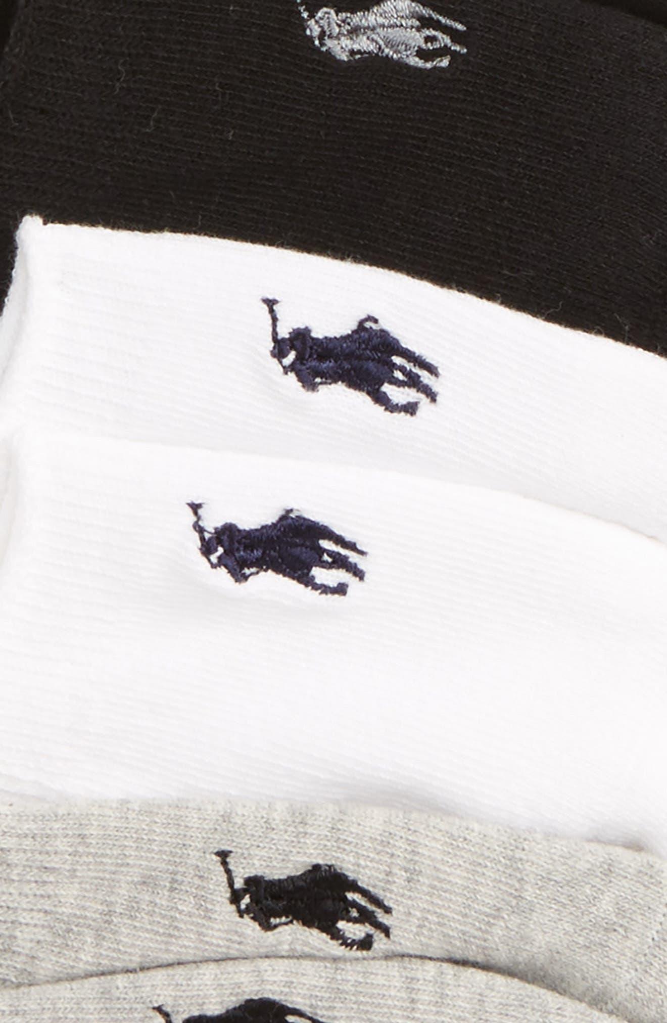 3-Pack No-Show Liner Socks,                             Alternate thumbnail 3, color,