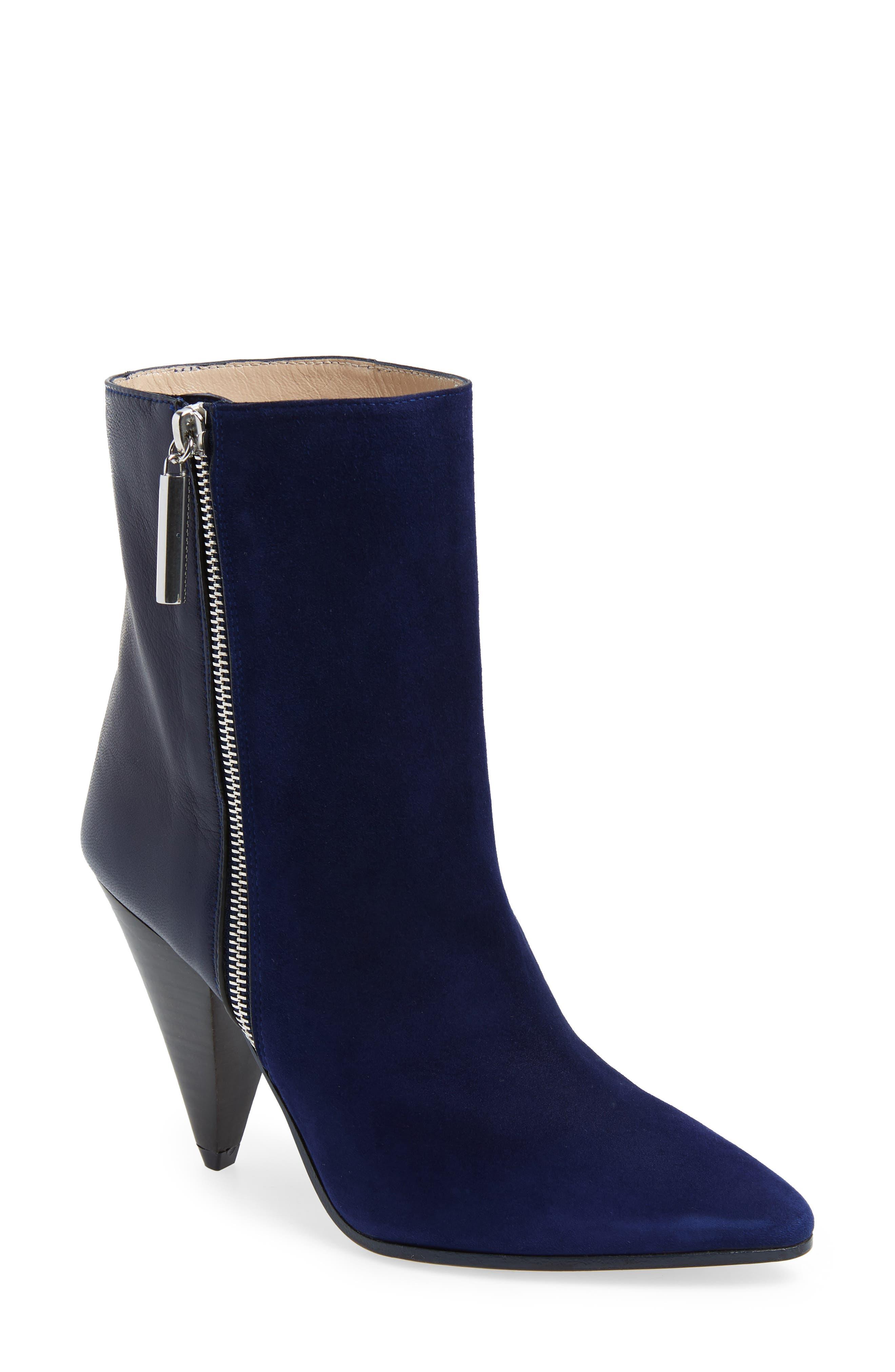 Stuart Weitzman Cone Heel Bootie, Blue