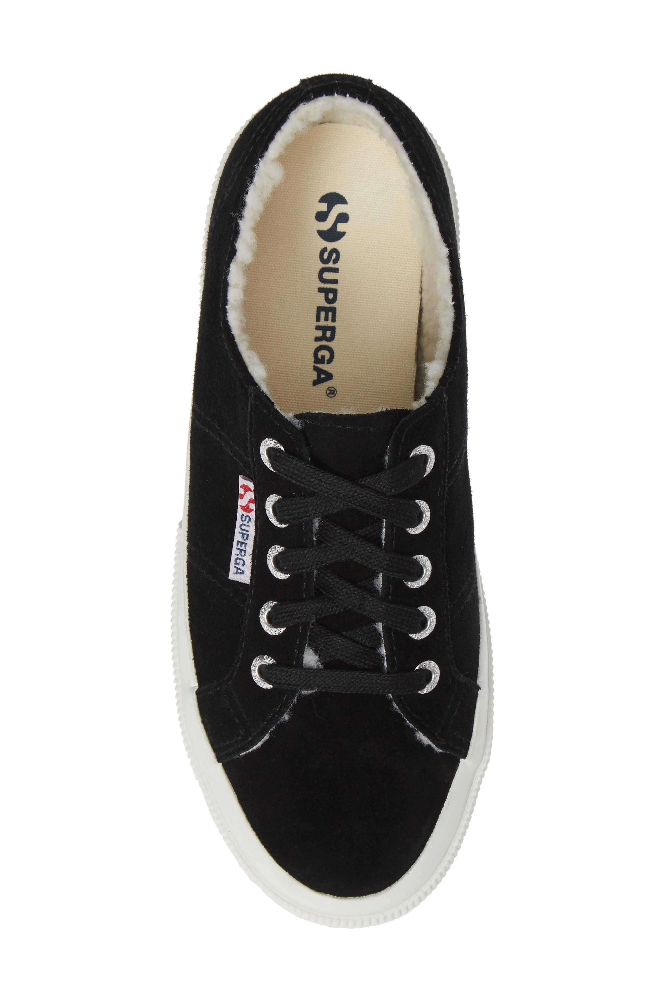 2750 Suefurw Sneaker,                             Alternate thumbnail 5, color,                             BLACK SUEDE