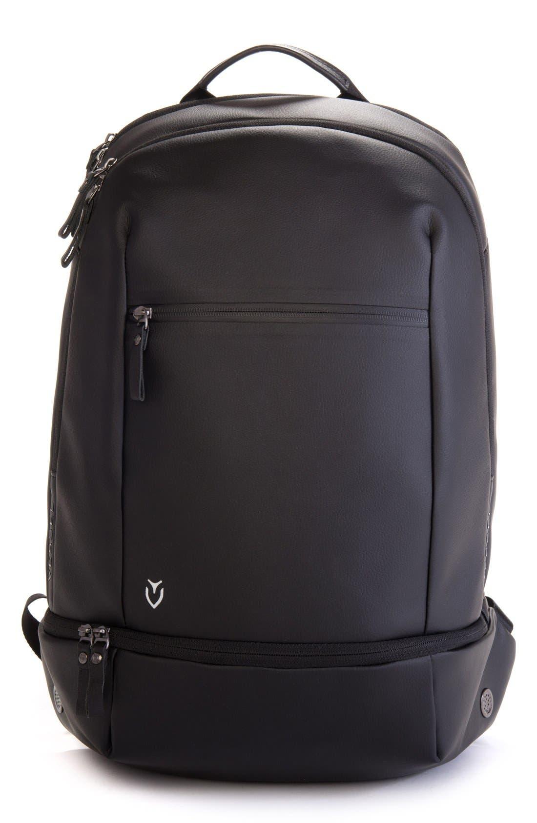 'Signature' Backpack,                             Main thumbnail 1, color,                             PEBBLED BLACK