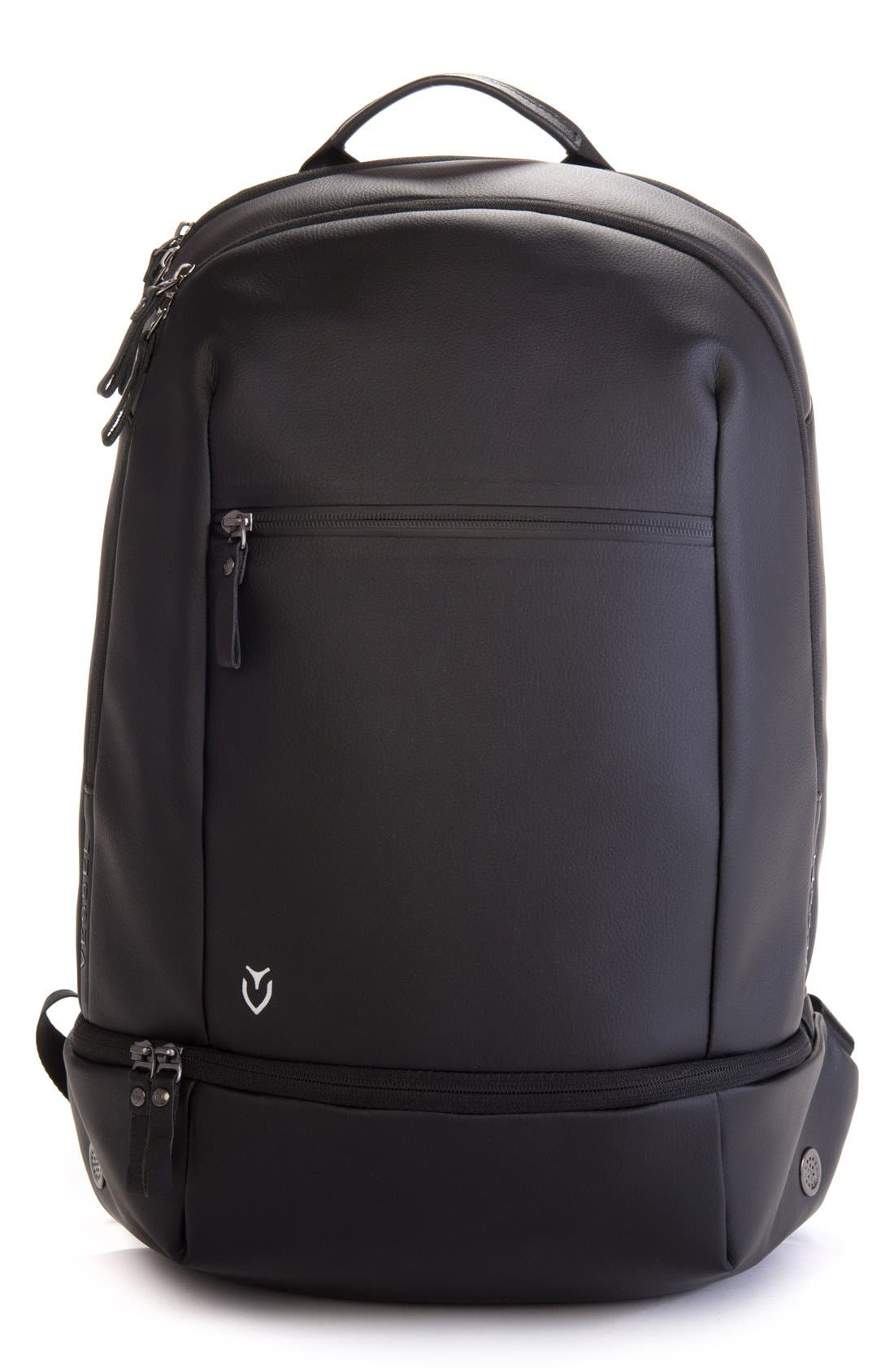 'Signature' Backpack,                         Main,                         color, PEBBLED BLACK