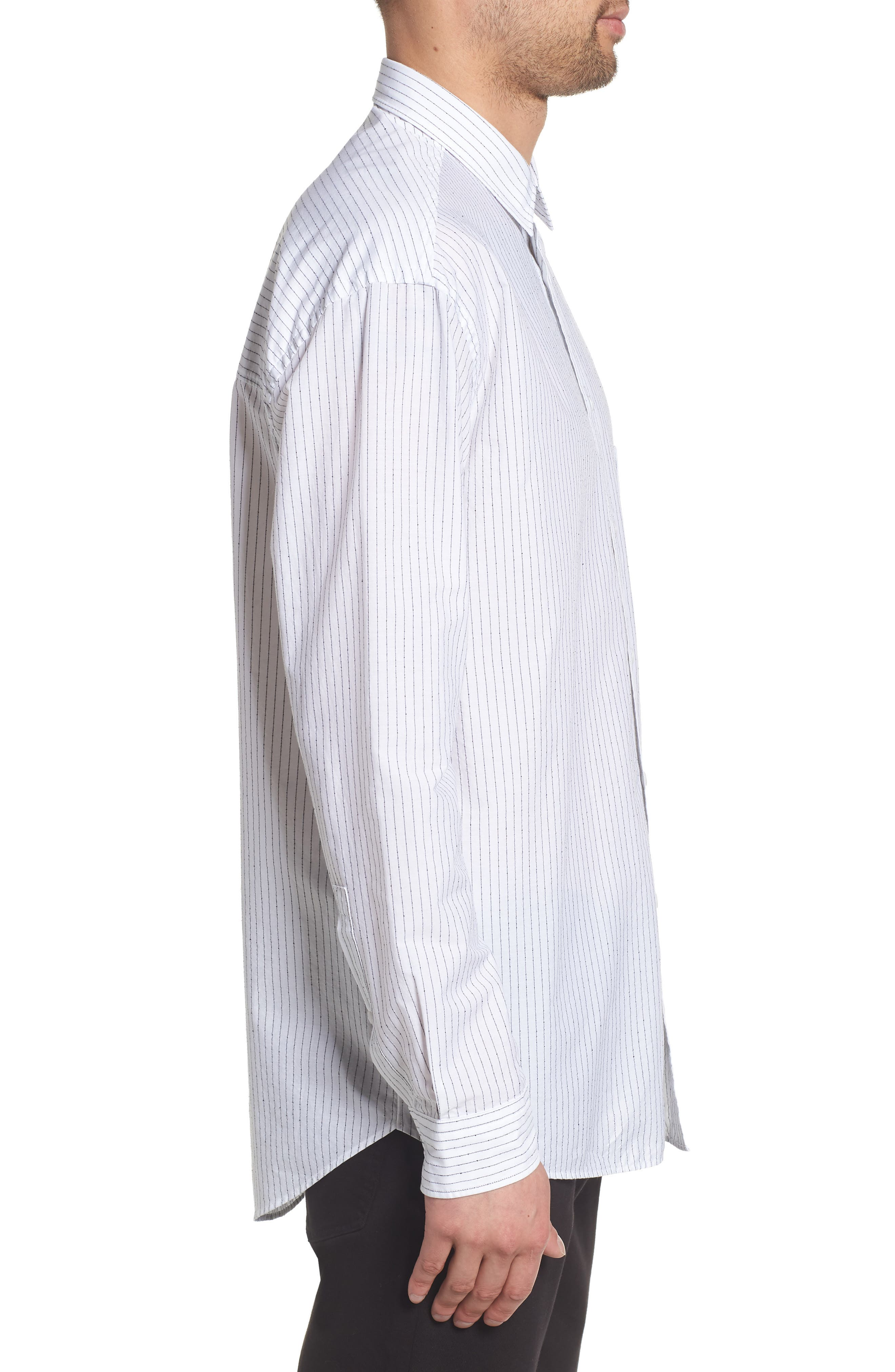 Ery Stripe Classic Fit Sport Shirt,                             Alternate thumbnail 3, color,                             WHITE