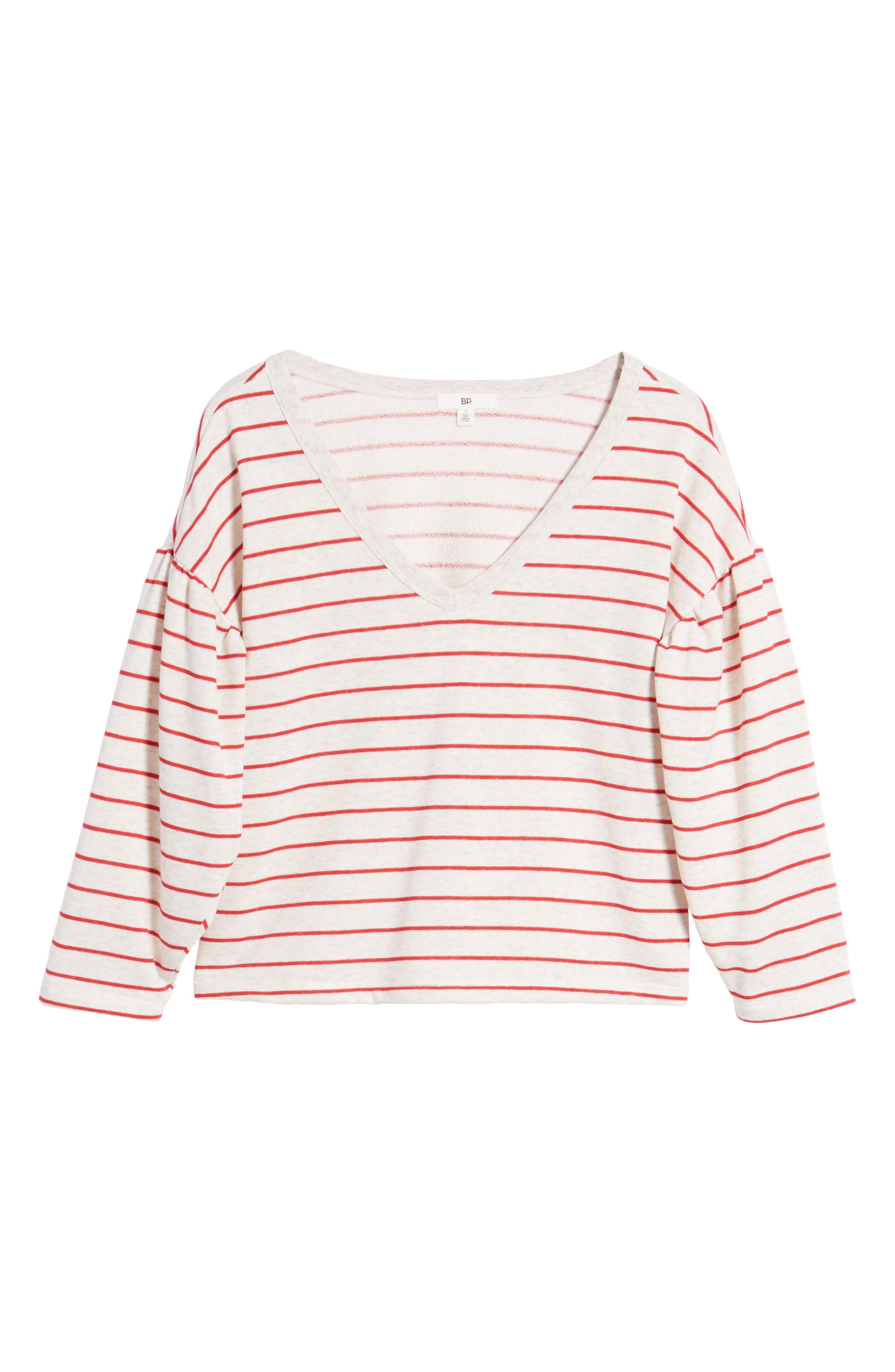 Drop Shoulder Stripe Sweater,                             Alternate thumbnail 12, color,