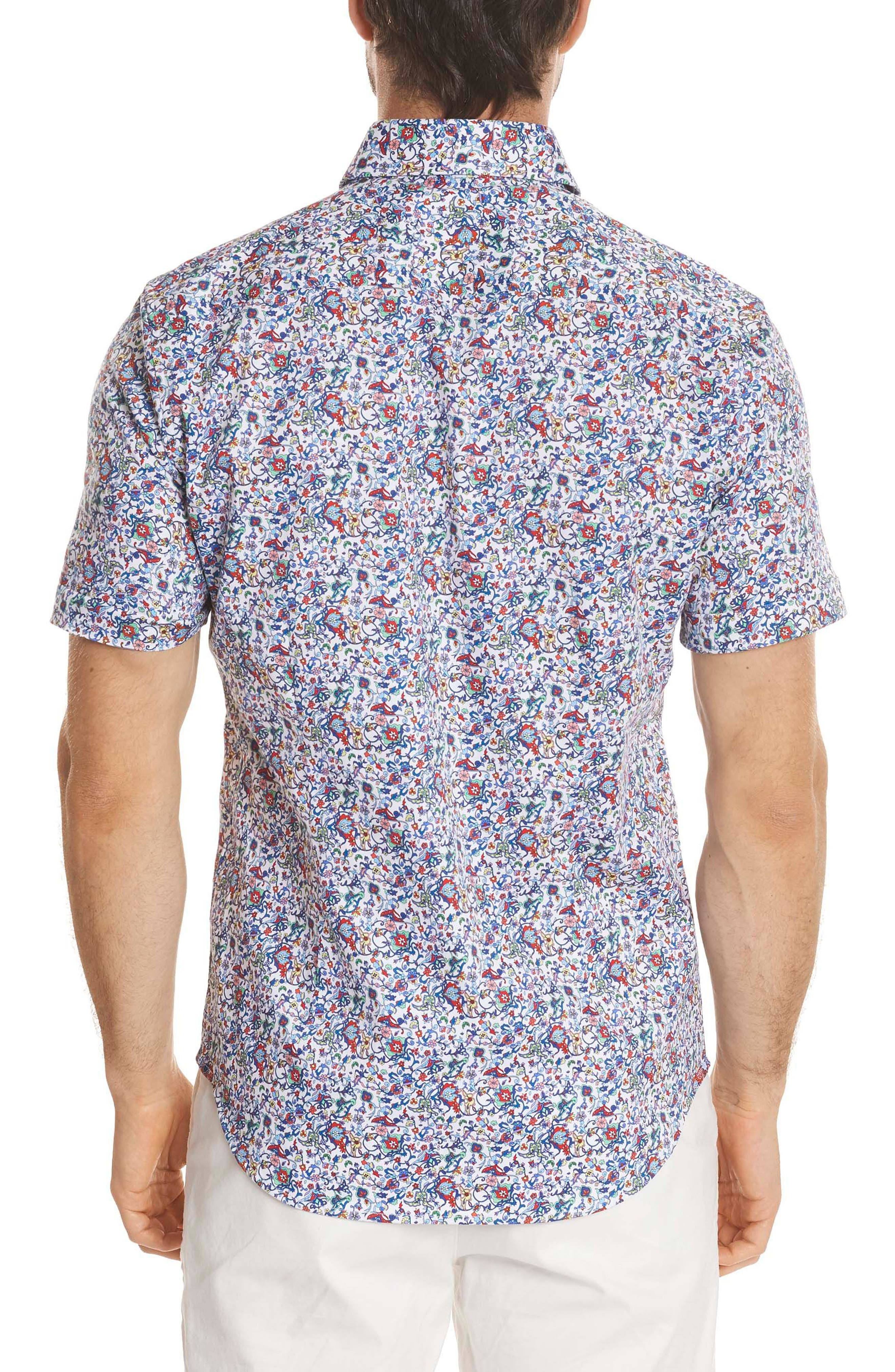 Moses Tailored Fit Print Sport Shirt,                             Alternate thumbnail 2, color,                             400
