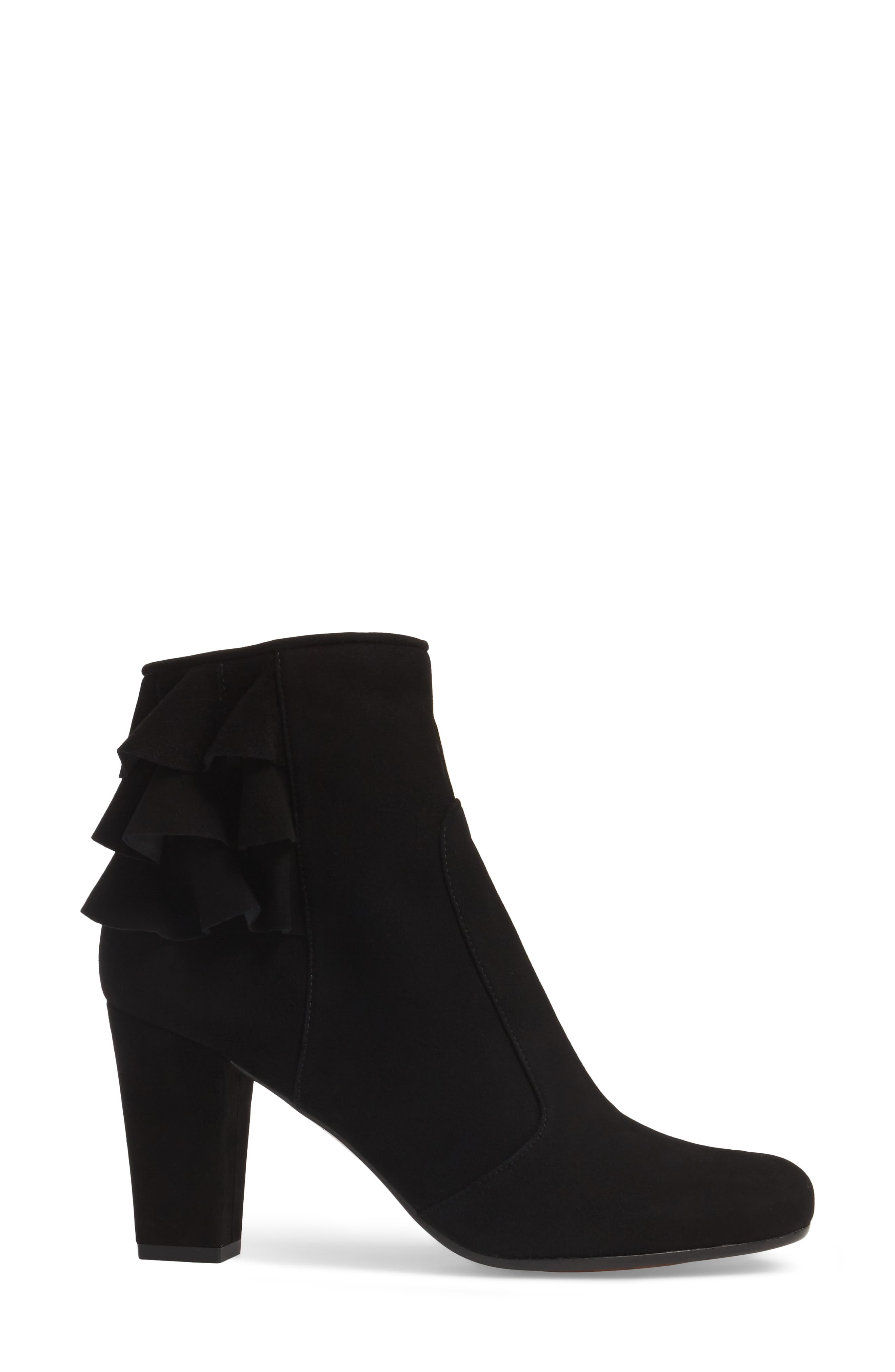 Acha Ruffle Bootie,                             Alternate thumbnail 3, color,                             001