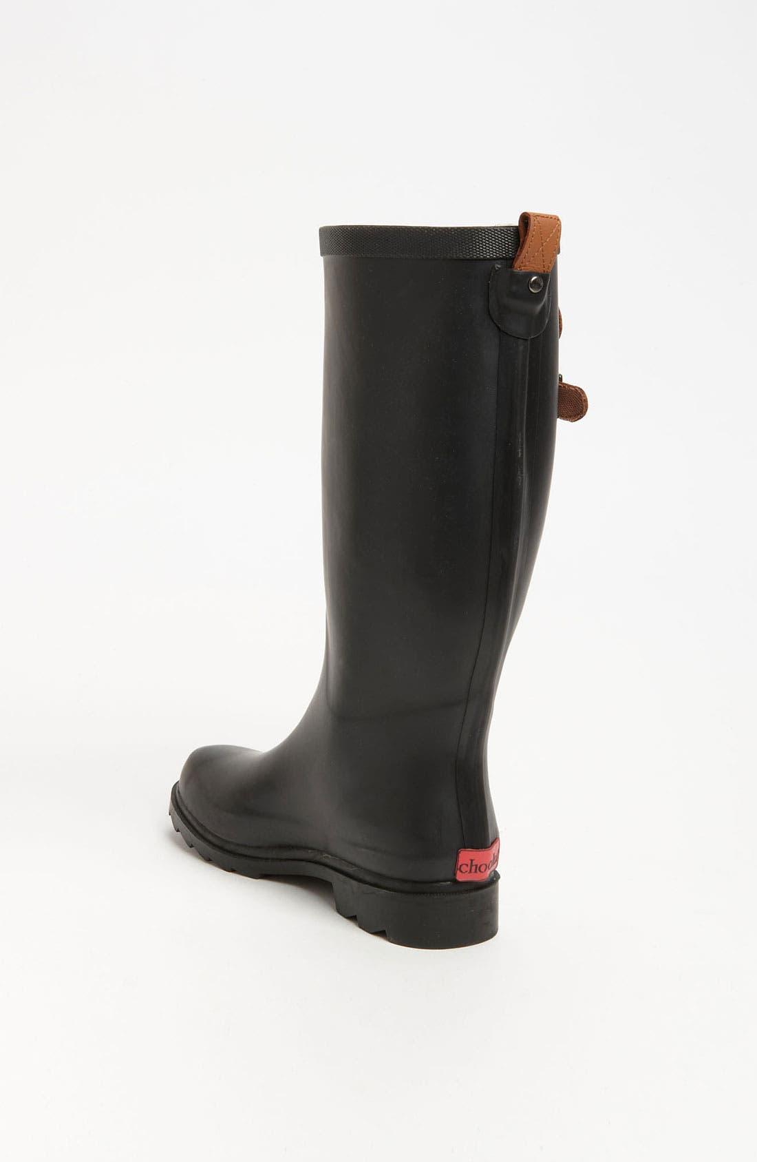 'Top Solid' Rain Boot,                             Alternate thumbnail 2, color,                             001