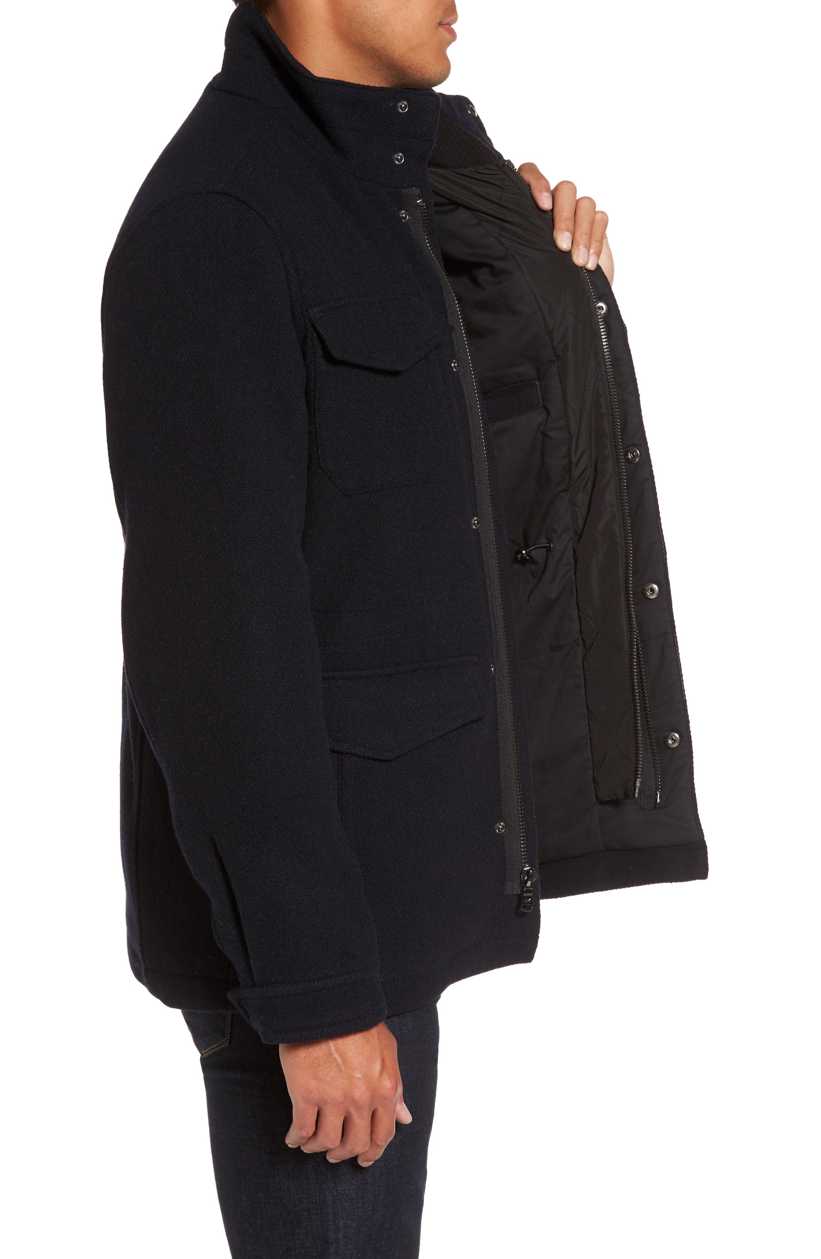 Regular Fit Double Layer Field Jacket,                             Alternate thumbnail 12, color,