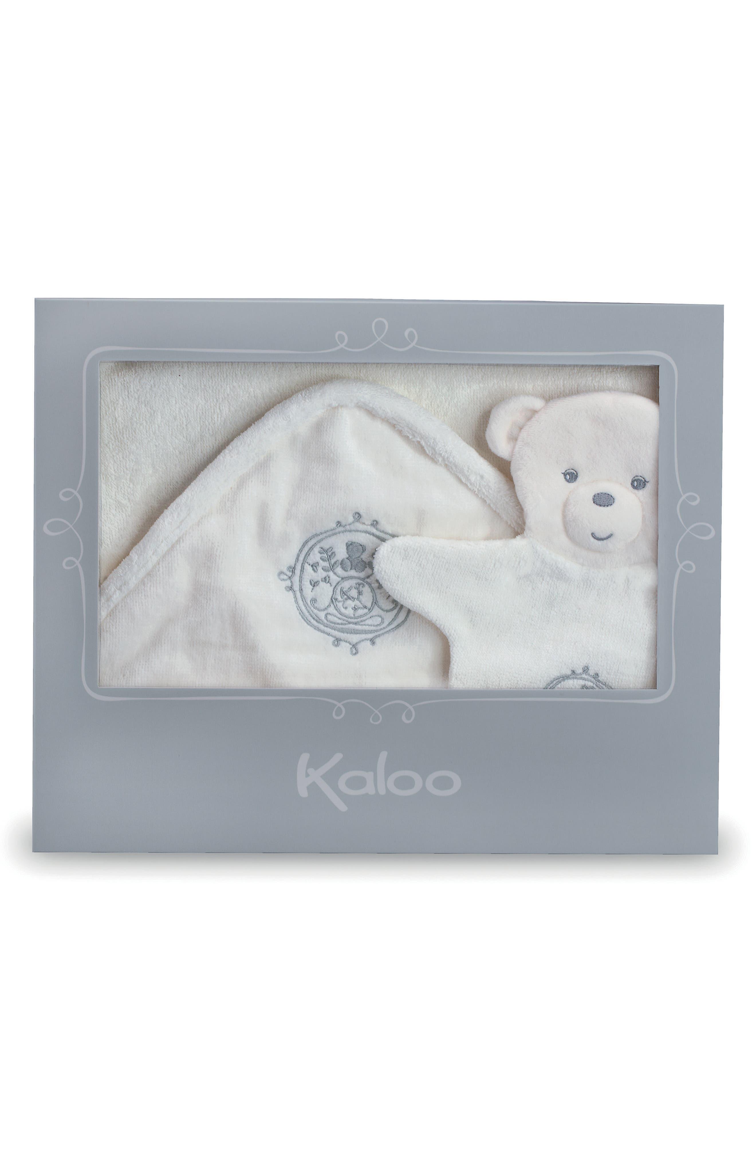 Bath Towel & Bear Puppet Wash Mitt,                             Alternate thumbnail 2, color,                             BLUE