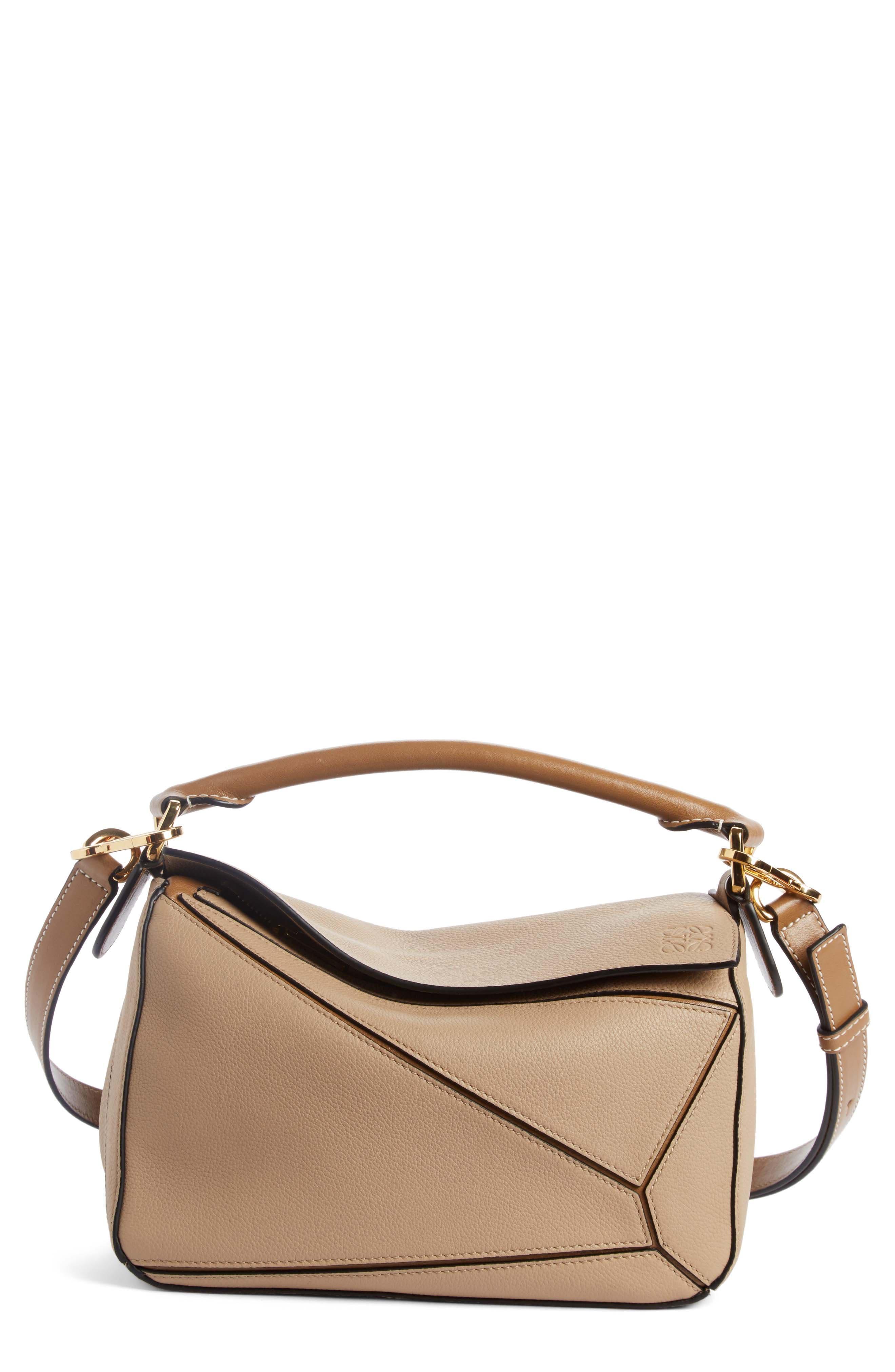 Medium Puzzle Calfskin Leather Shoulder Bag,                             Main thumbnail 1, color,                             200