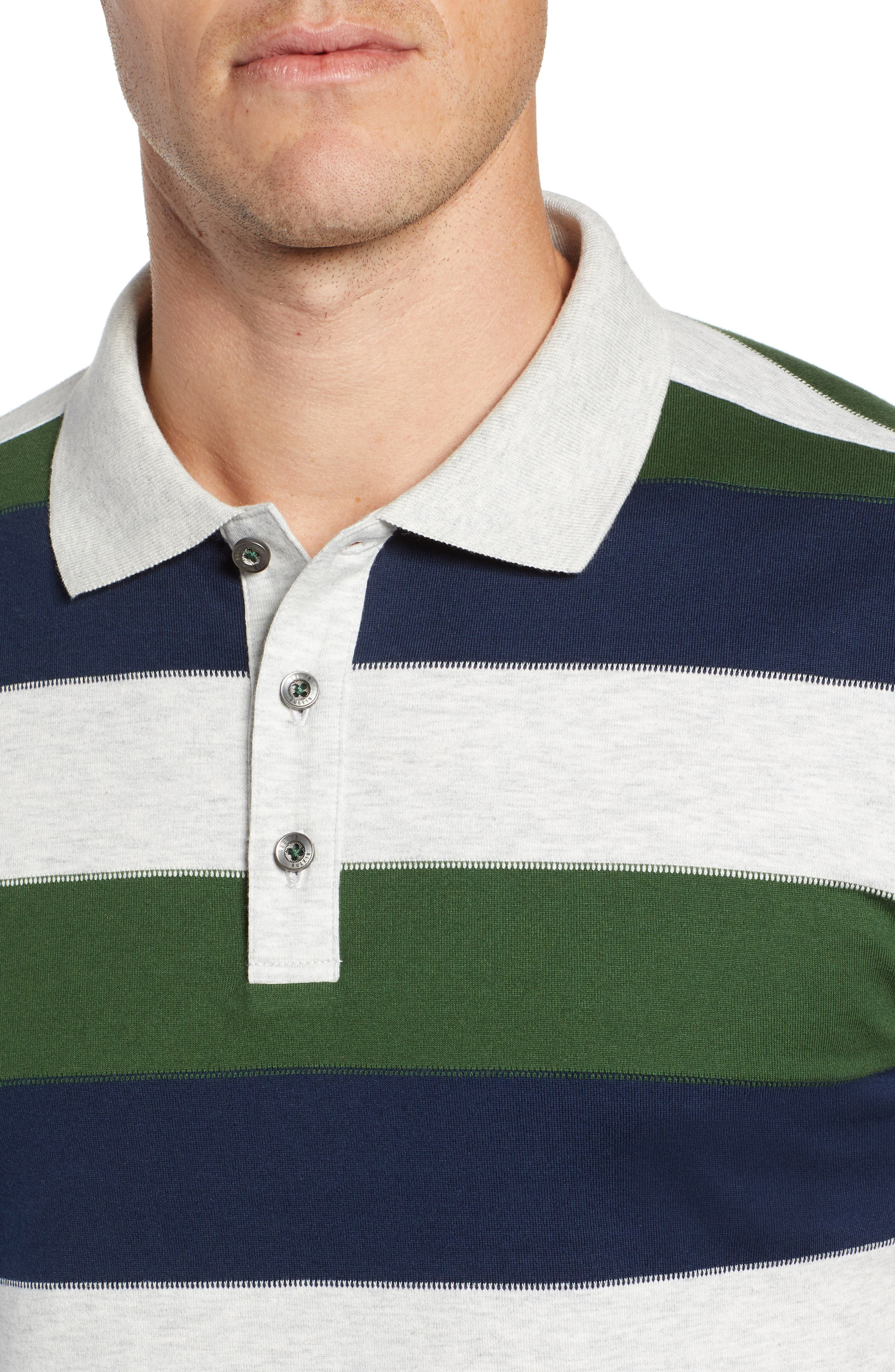 Rule 18 Regular Fit Wide Stripe Polo,                             Alternate thumbnail 4, color,                             020