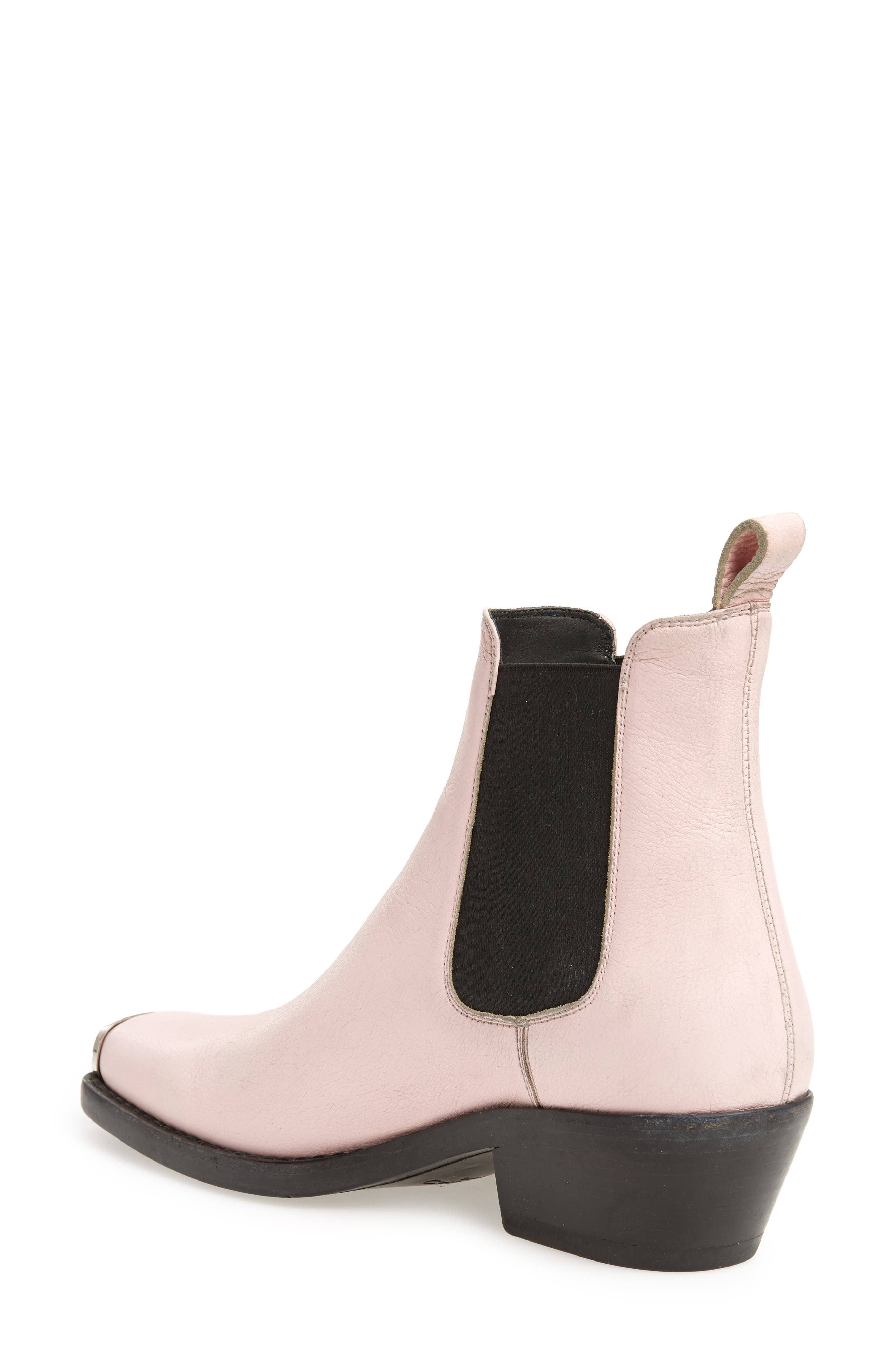 Western Claire Chelsea Boot,                             Alternate thumbnail 2, color,                             PINK