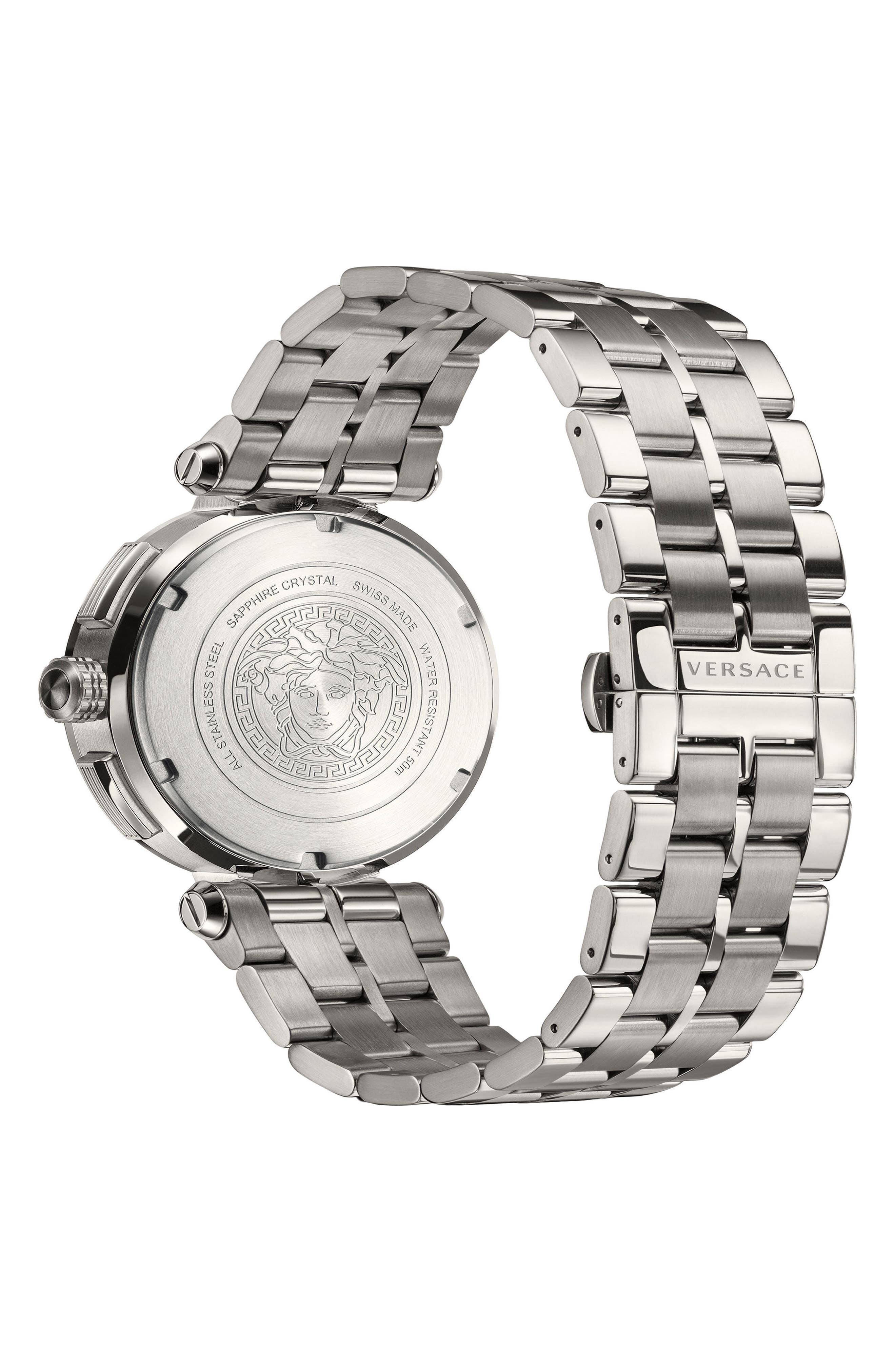 Aion Chronograph Bracelet Watch, 45mm,                             Alternate thumbnail 2, color,                             SILVER