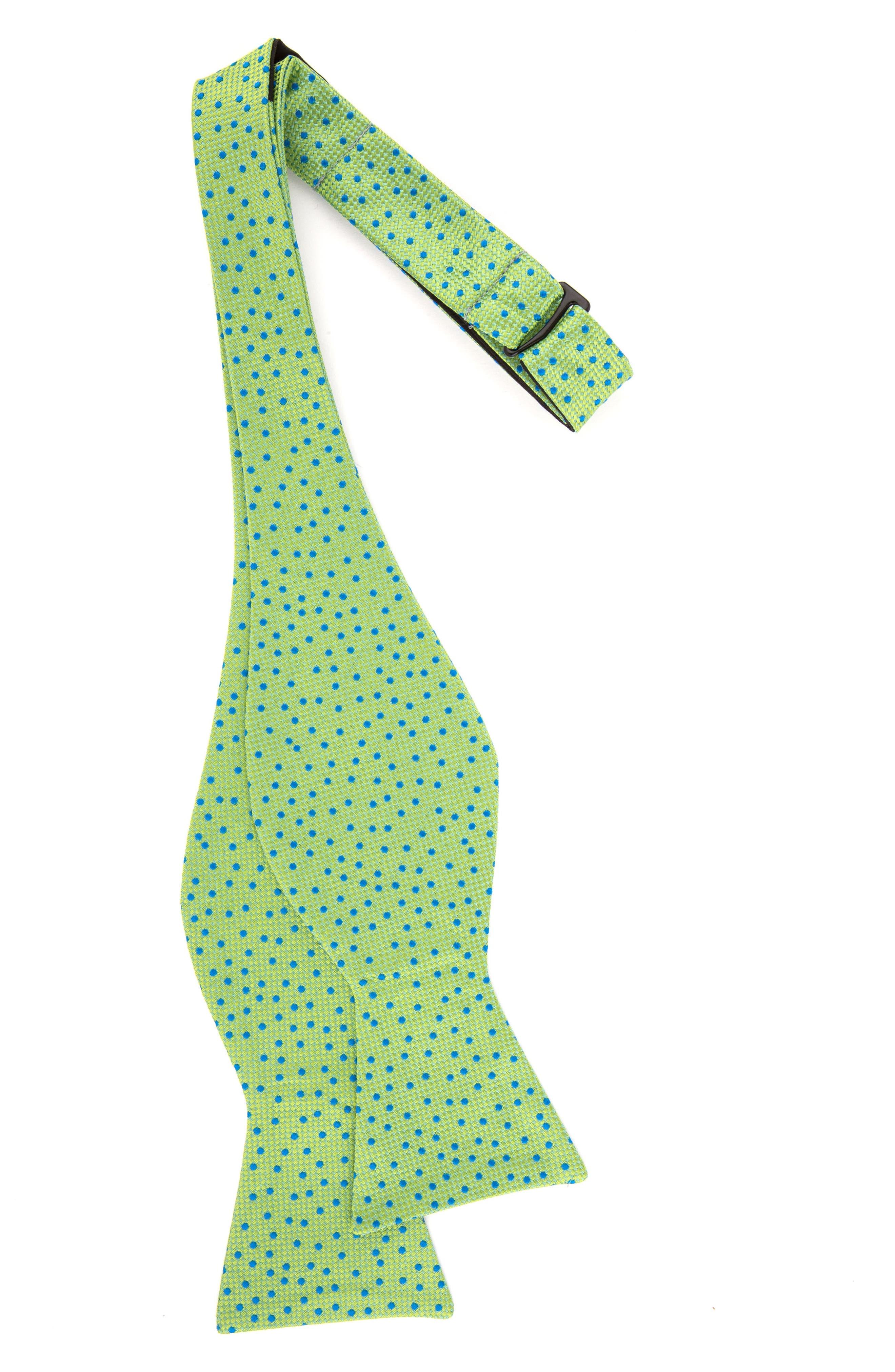 Jacquard Micro Dot Silk Bow Tie,                             Alternate thumbnail 2, color,                             300