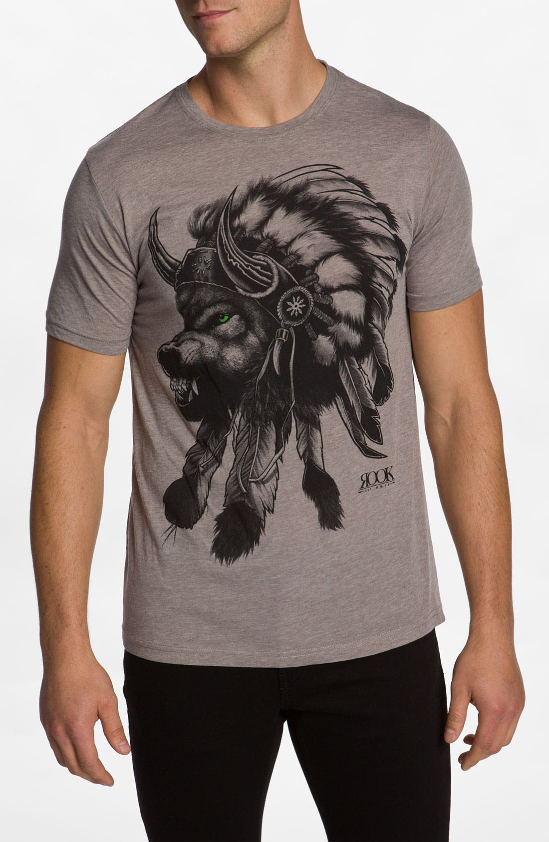 'Wolf Headdress' T-Shirt,                             Main thumbnail 1, color,                             250