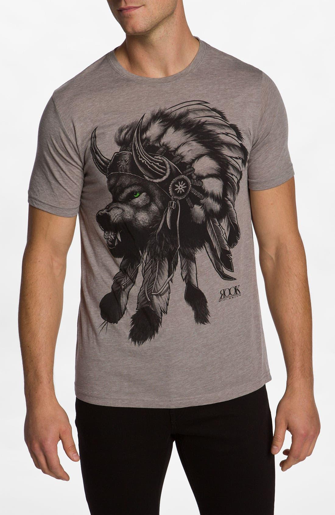 'Wolf Headdress' T-Shirt, Main, color, 250