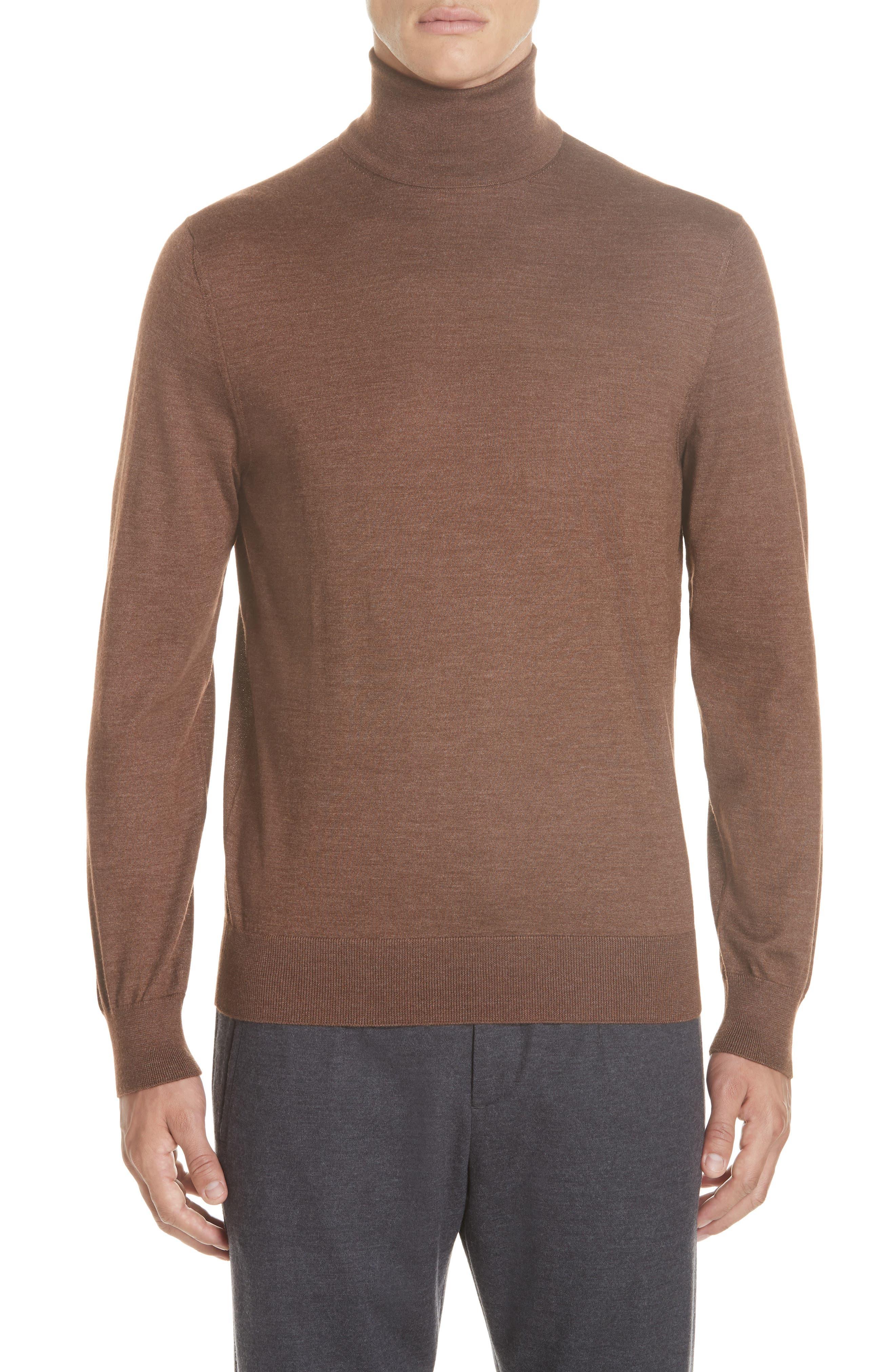 Cashmere & Silk Turtleneck Sweater, Main, color, 252