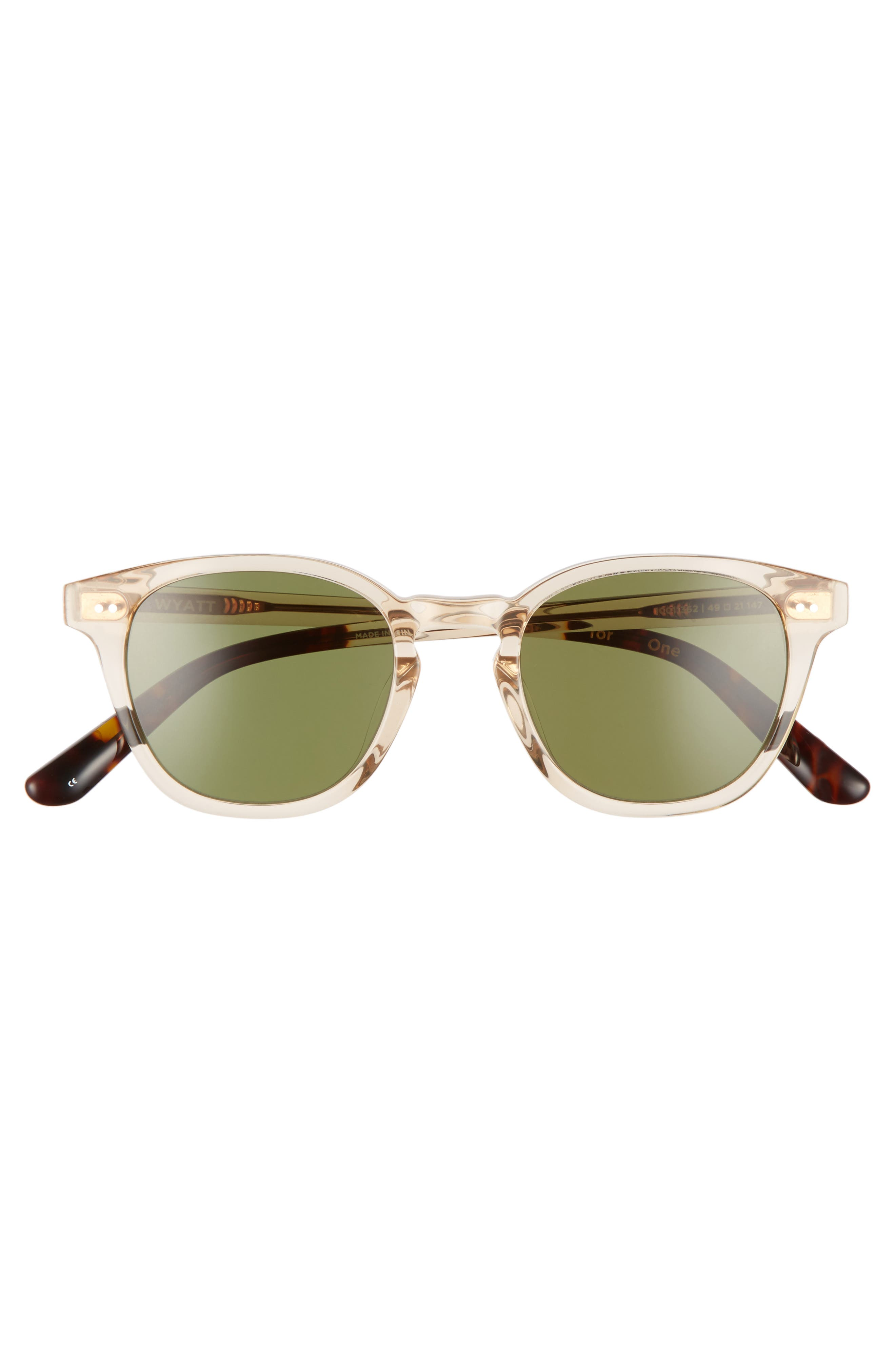 Wyatt 49mm Sunglasses,                             Alternate thumbnail 2, color,                             100