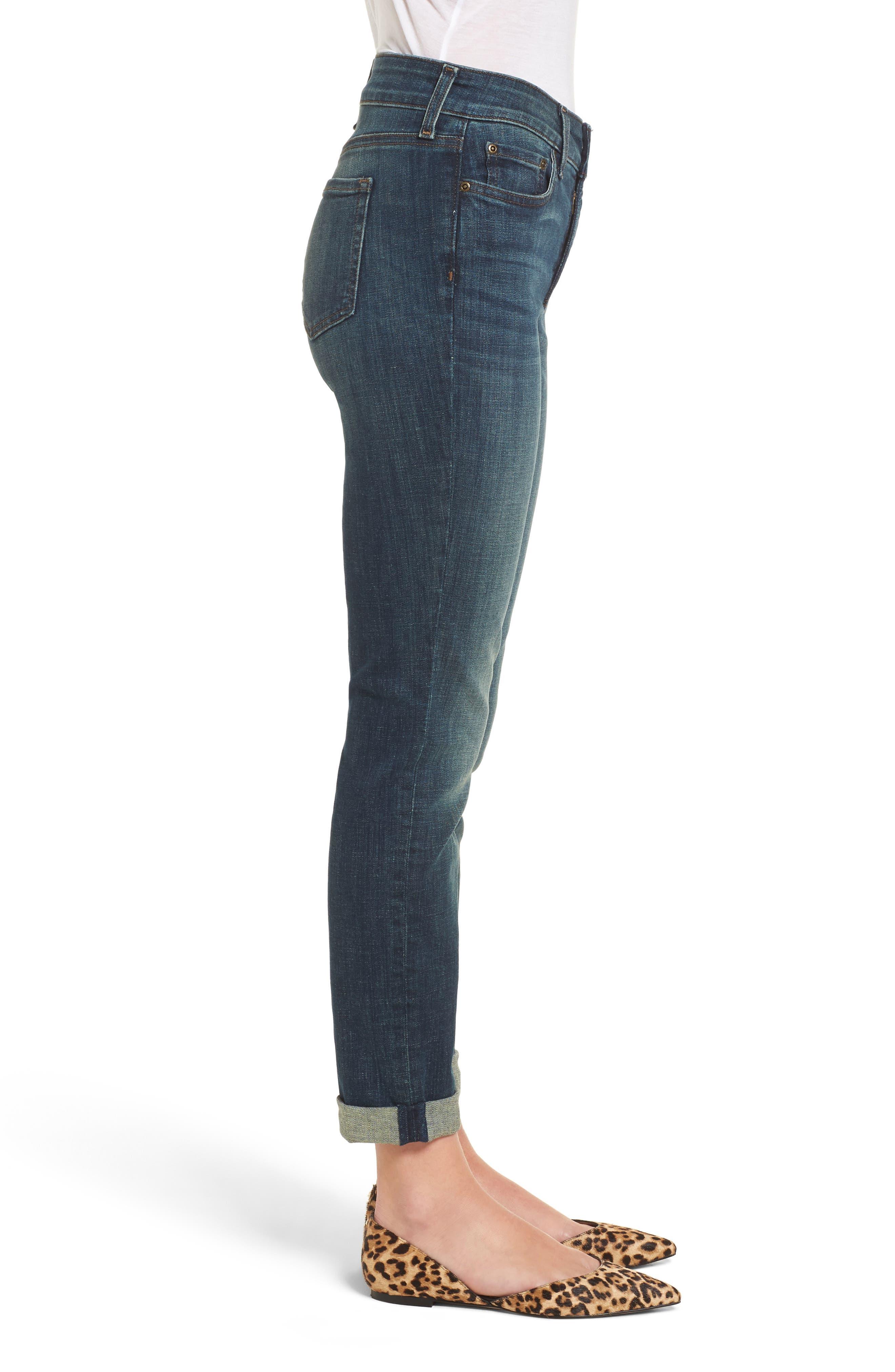 Stretch Boyfriend Jeans,                             Alternate thumbnail 6, color,
