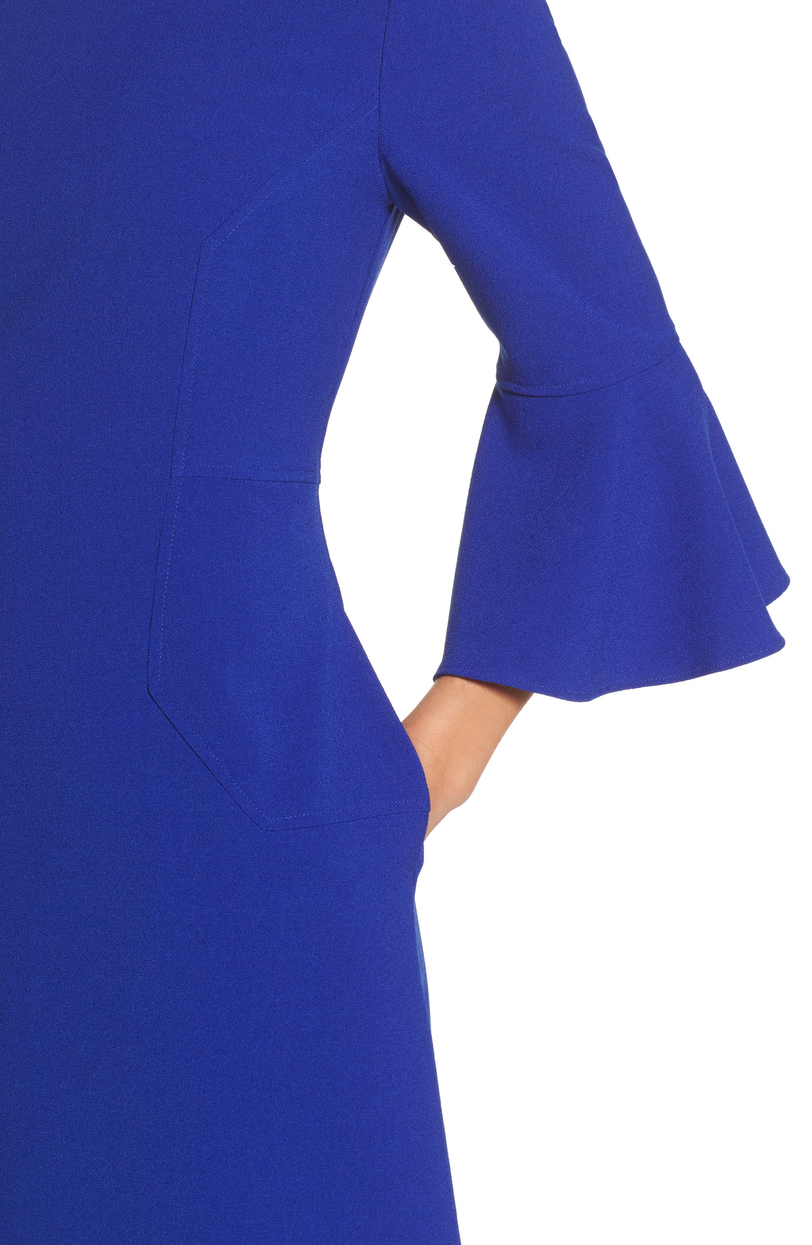Bell Sleeve Dress,                             Alternate thumbnail 4, color,                             430