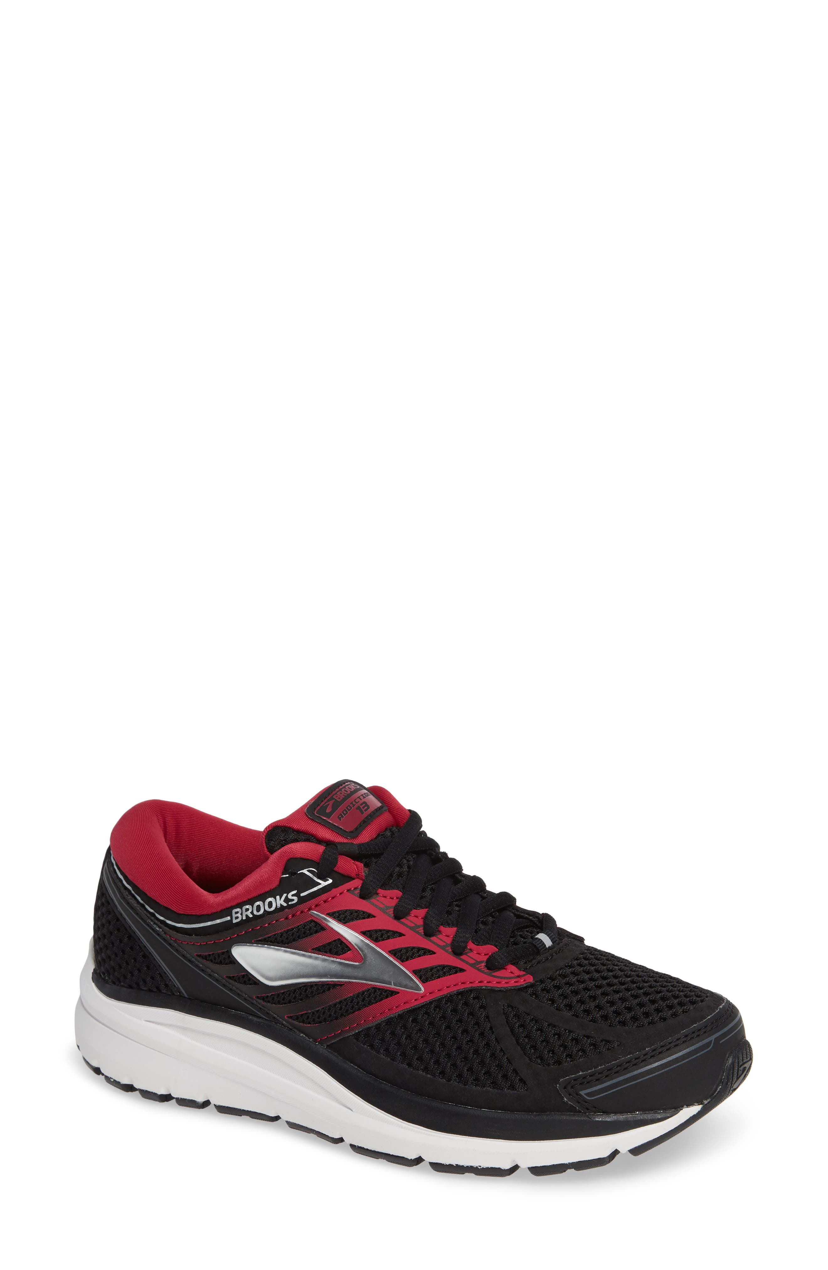 Addiction 13 Running Shoe,                         Main,                         color, BLACK/ PINK/ GREY