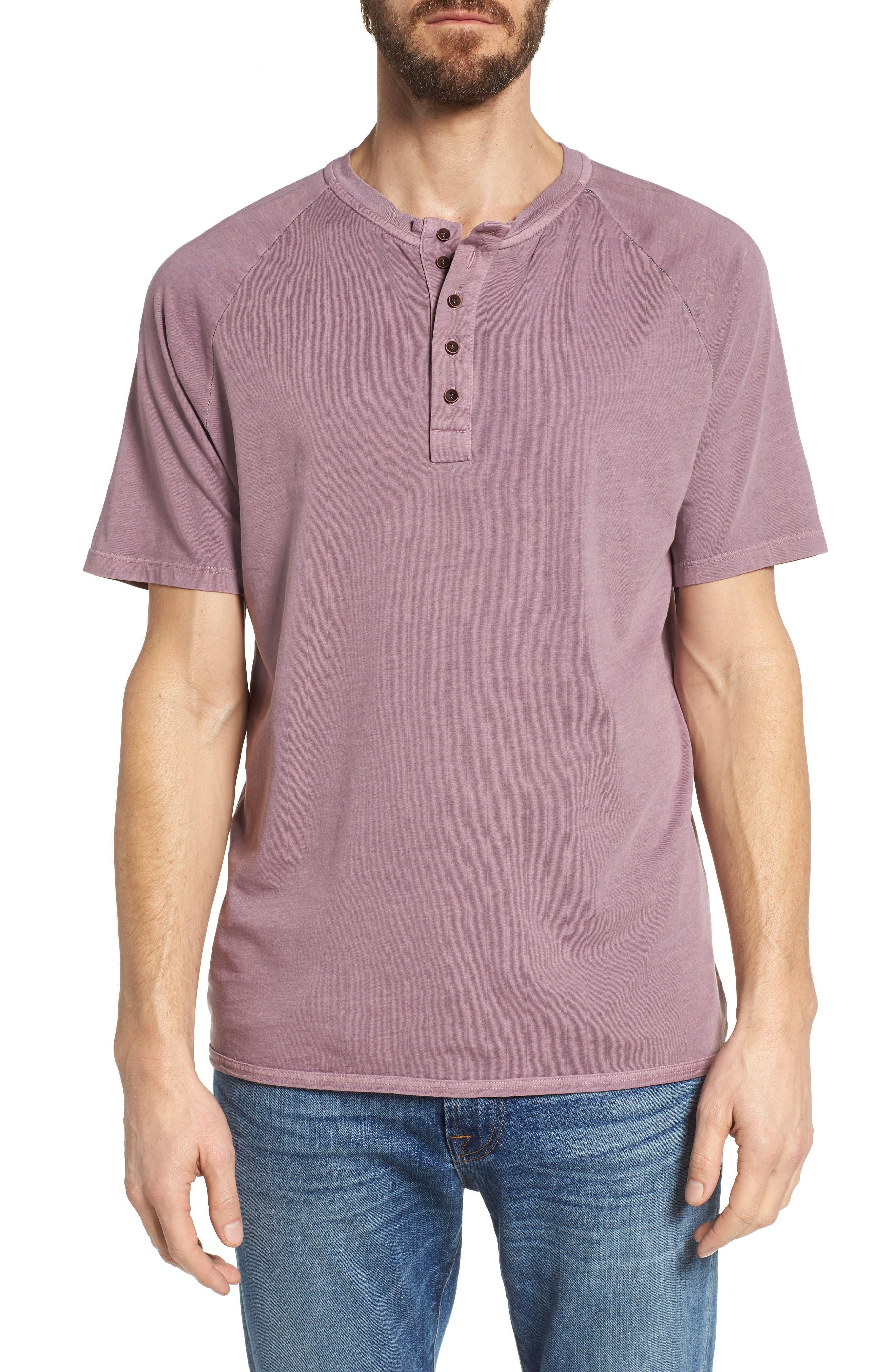 Short Sleeve Henley,                         Main,                         color, WILD ROSE