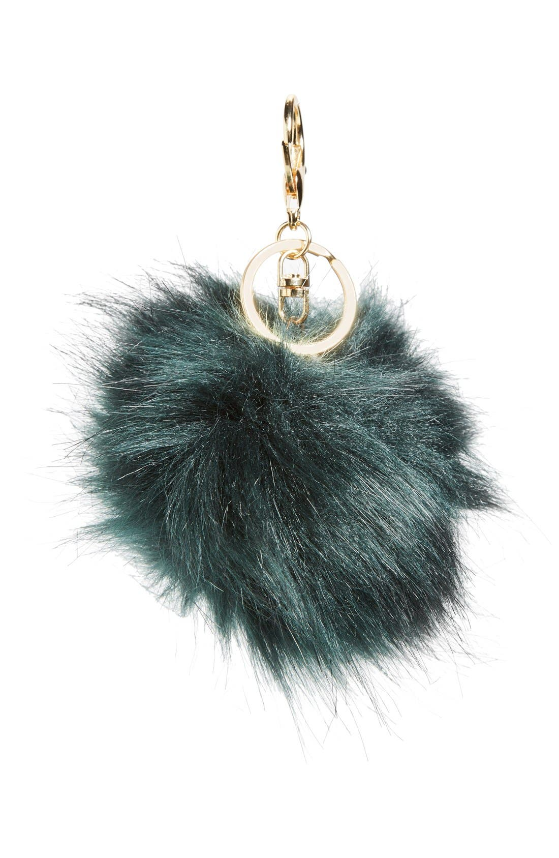 Faux Fur Pom Bag Charm,                             Main thumbnail 5, color,