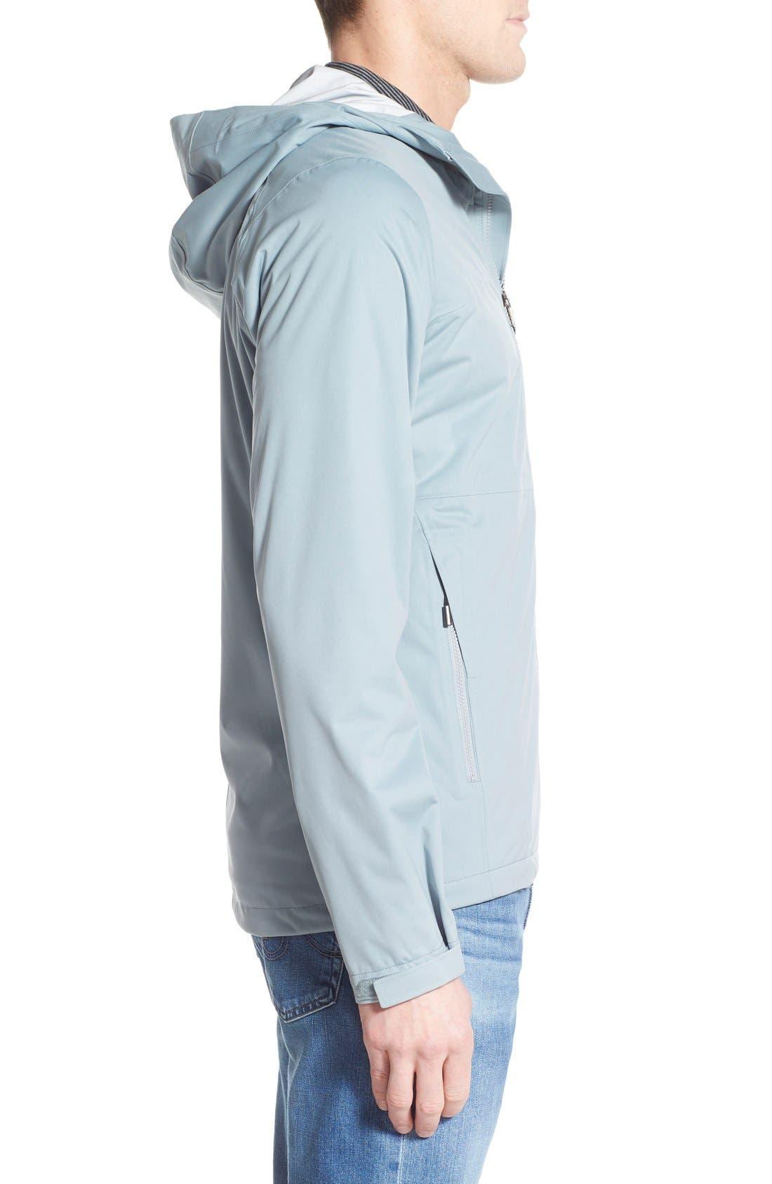 'Rebound' Regular Fit Zip Hooded Jacket,                             Alternate thumbnail 3, color,                             073