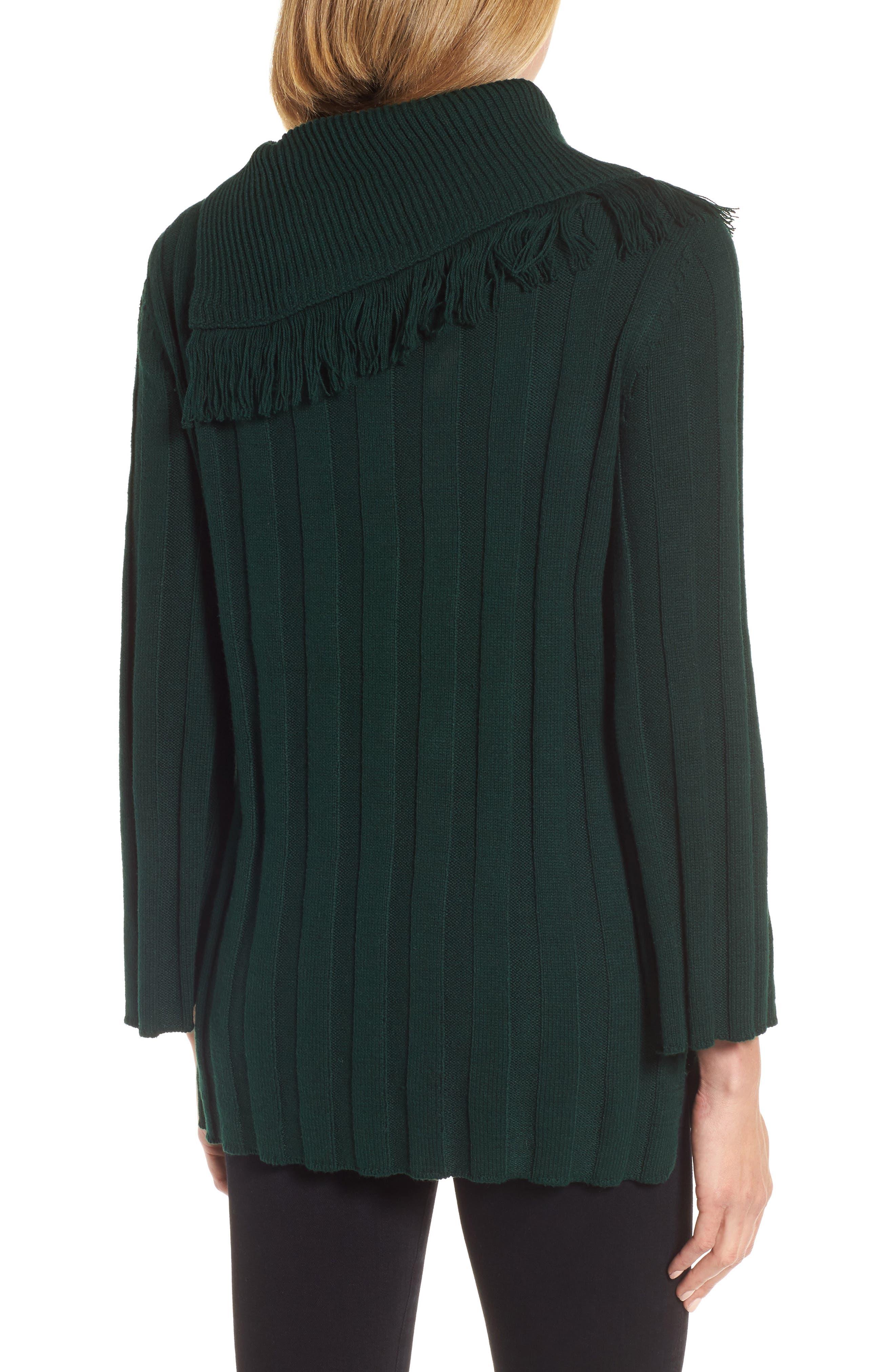 Fringe Cowl Neck Sweater,                             Alternate thumbnail 6, color,
