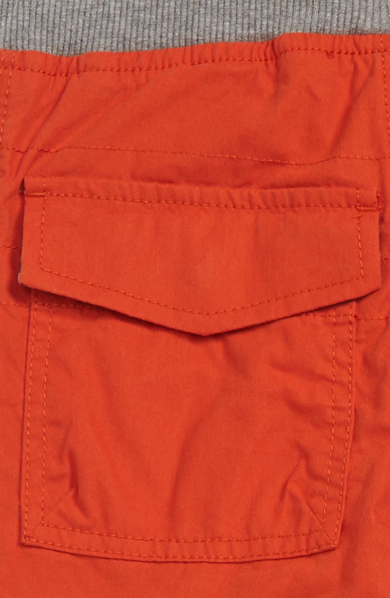 Cargo Pull On Pants,                             Alternate thumbnail 3, color,                             LAVA ORANGE