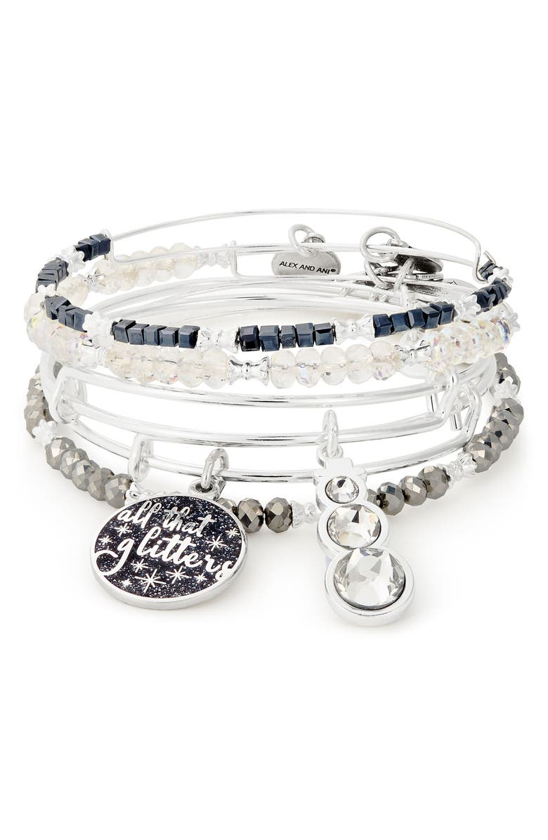 Alex And Ani ALL THAT GLITTERS SET OF 5 BANGLES
