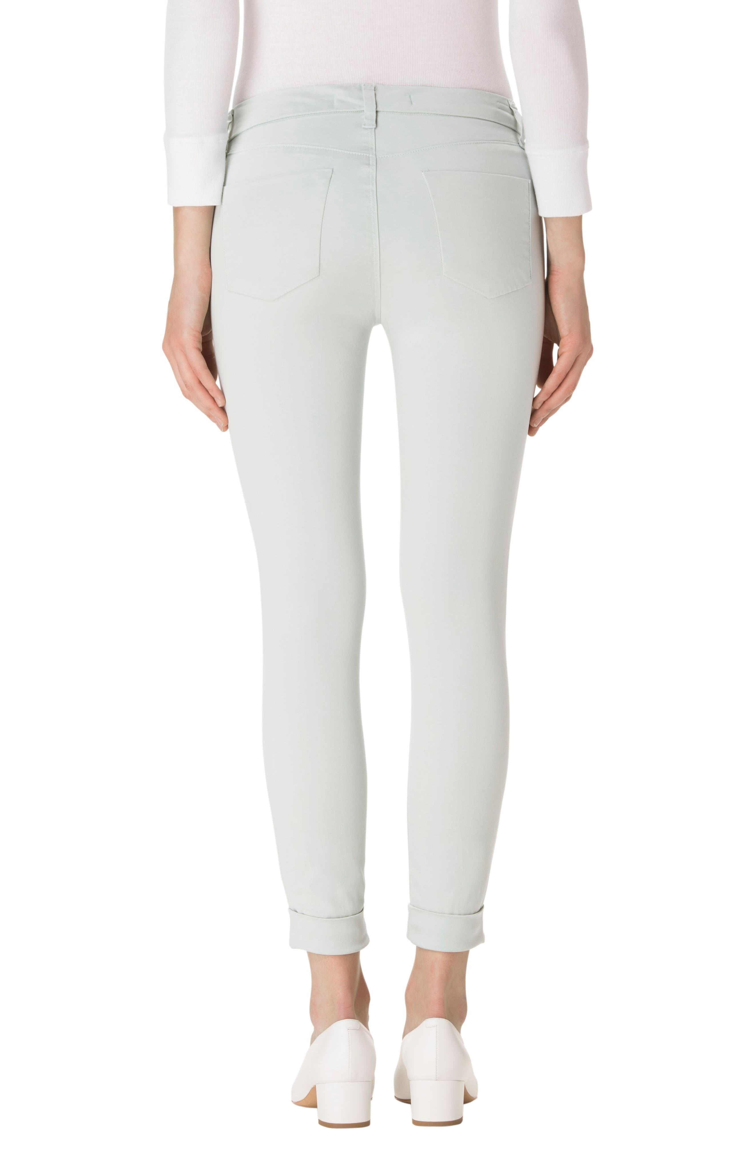 'Anja' Cuffed Crop Skinny Jeans,                             Alternate thumbnail 10, color,