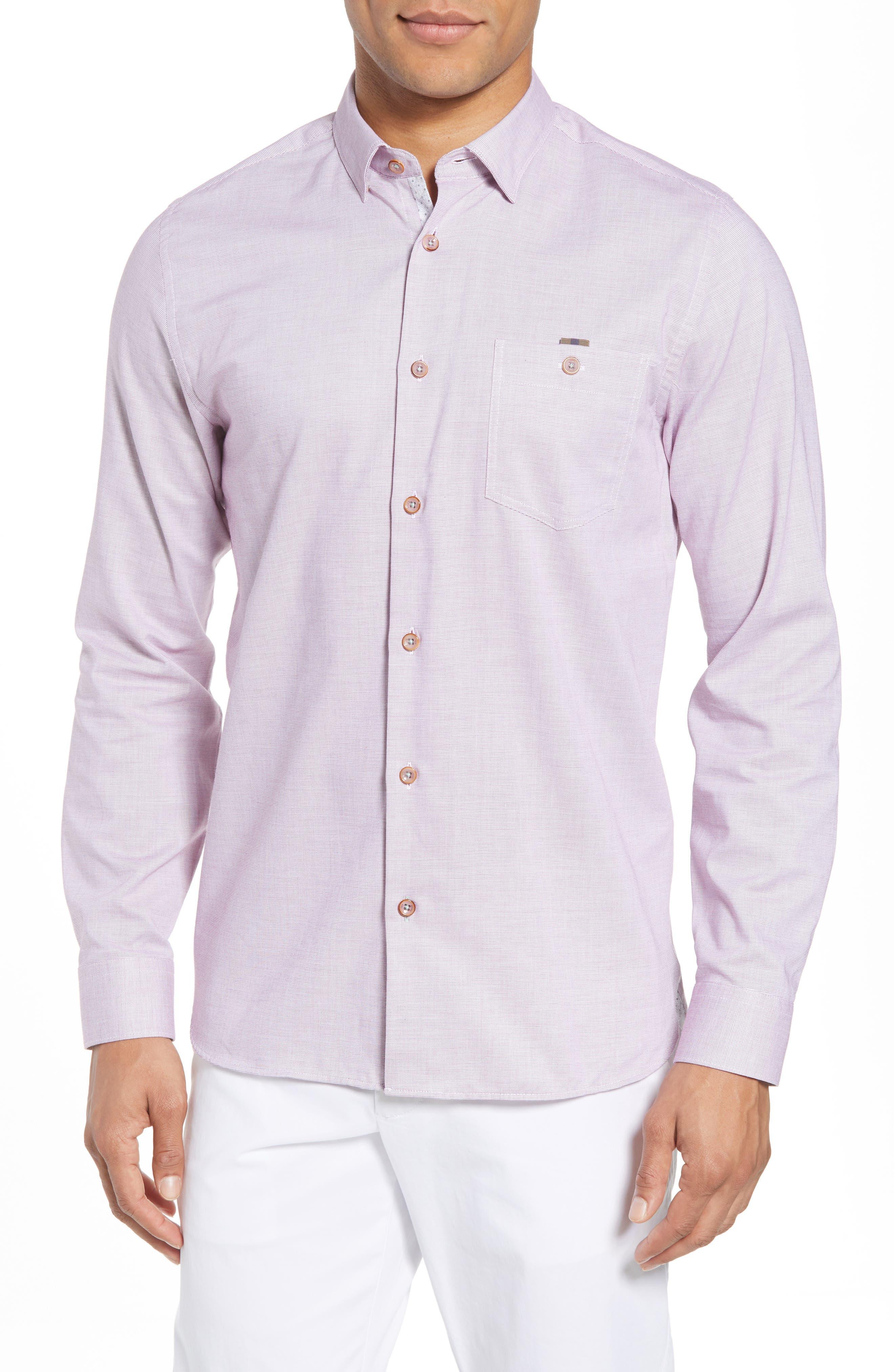 Slim Fit Textured Sport Shirt,                             Main thumbnail 5, color,