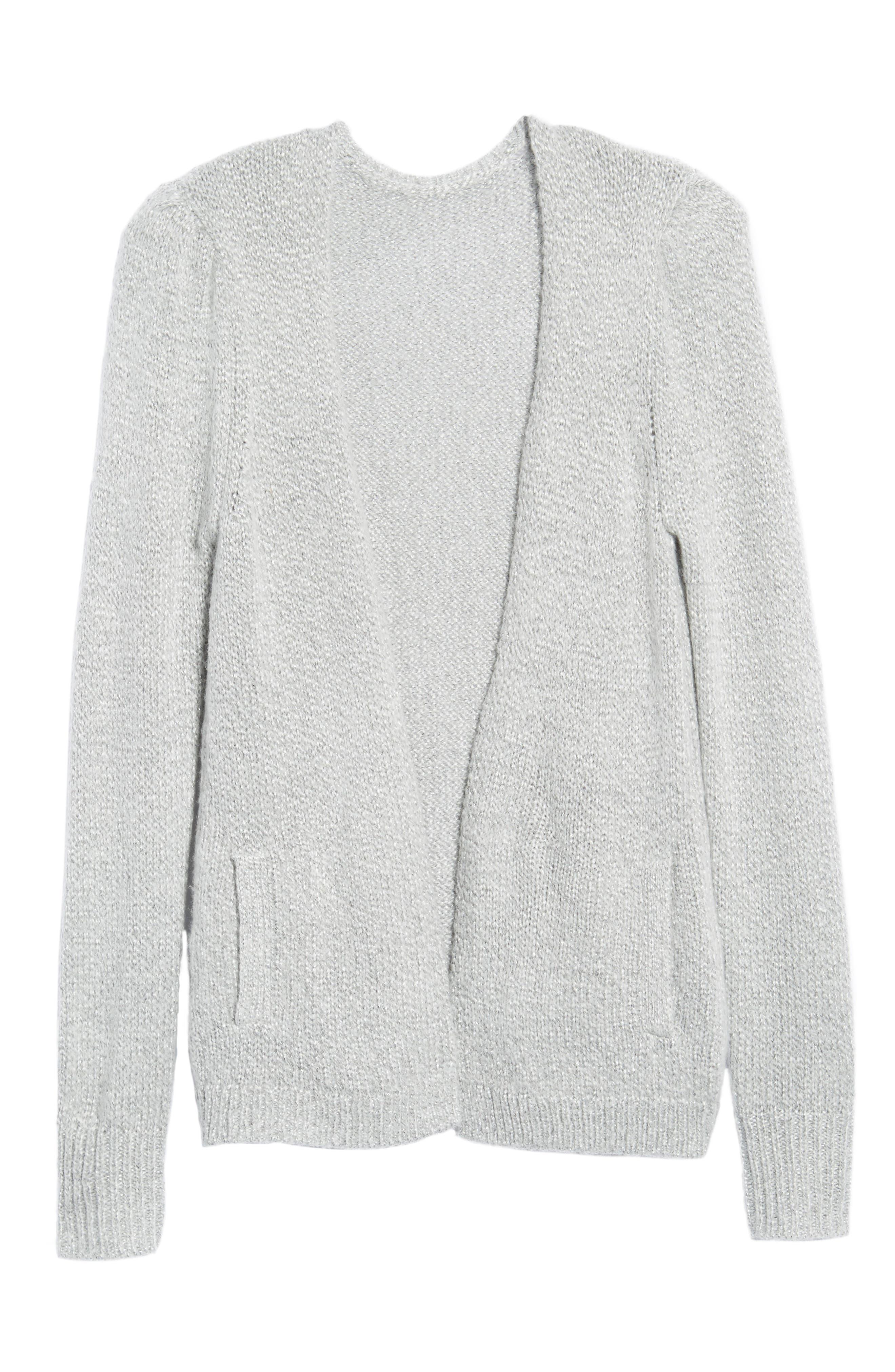 Shine Cardigan Sweater,                             Alternate thumbnail 6, color,                             020