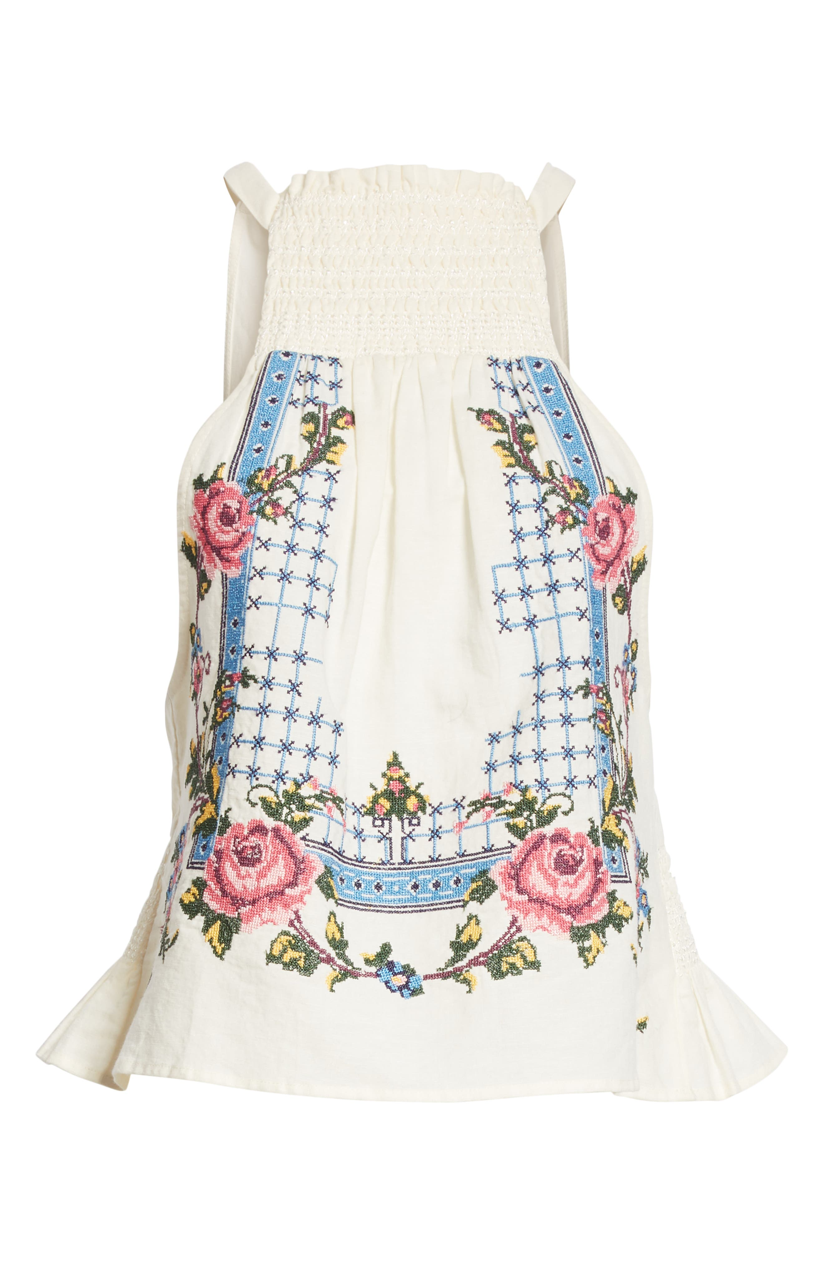 Honey Pie Embroidered Tank,                             Alternate thumbnail 6, color,                             103