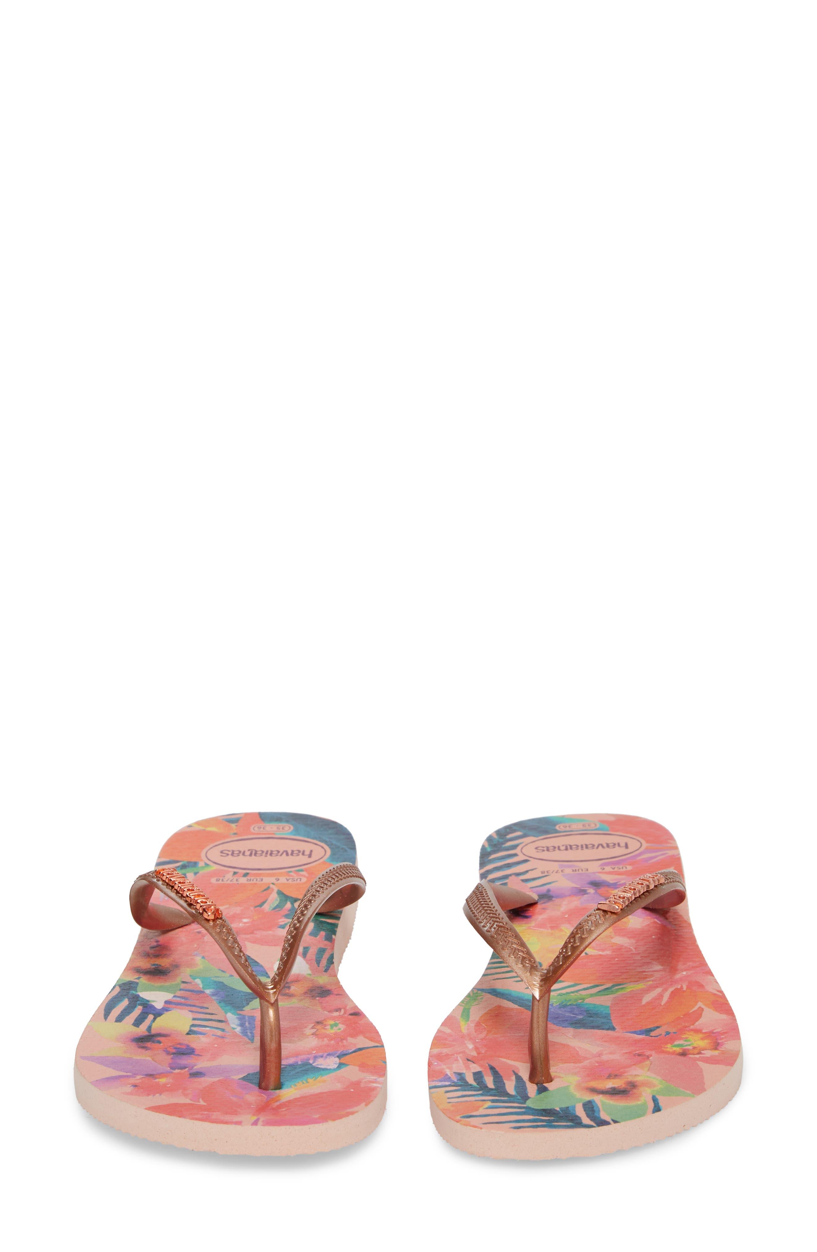 'Slim Tropical' Flip Flop,                             Alternate thumbnail 5, color,                             BALLET ROSE