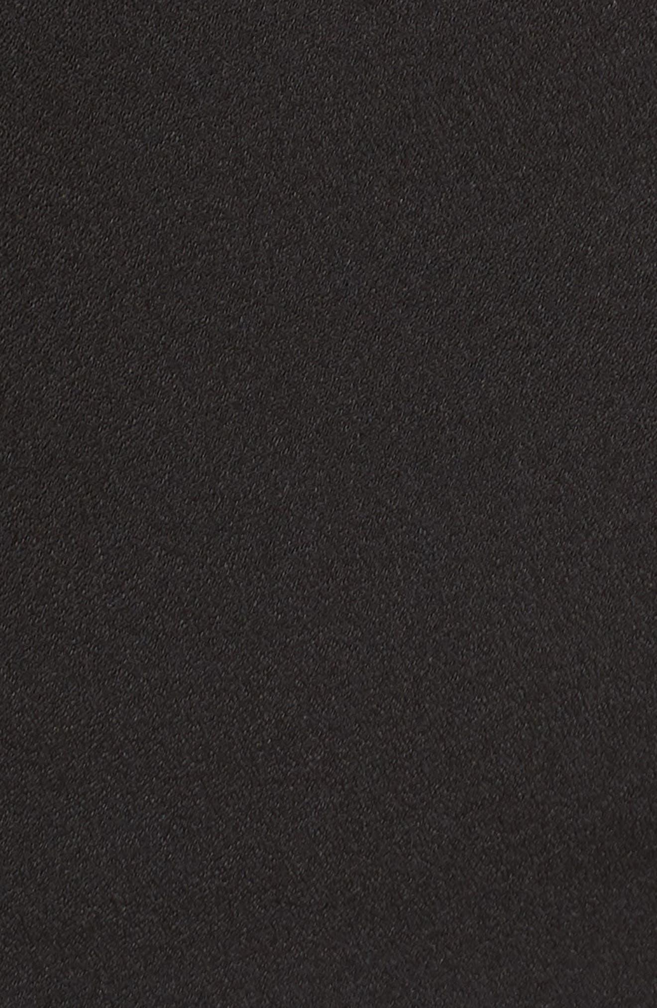 Asymmetric Ruffle Hem Dress,                             Alternate thumbnail 12, color,                             001