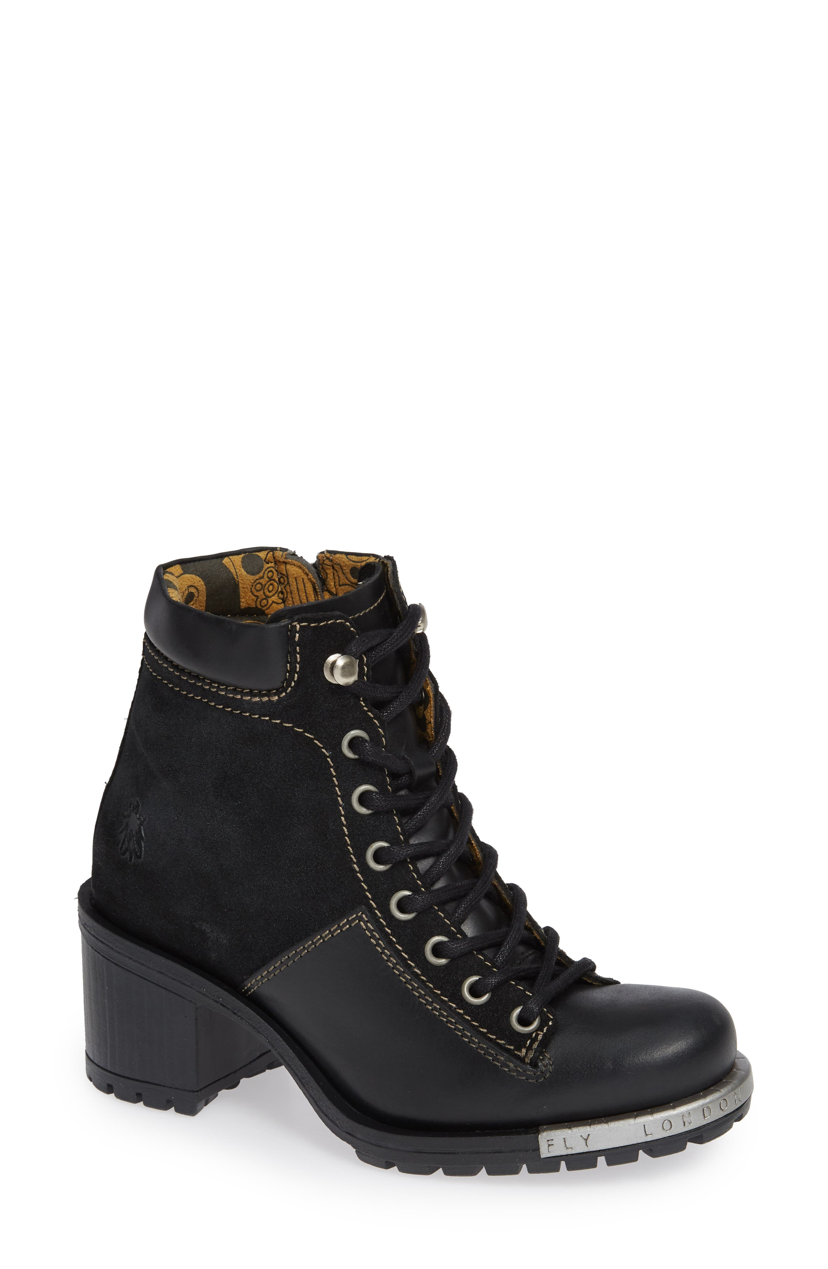 'Leal' Boot,                             Main thumbnail 1, color,                             BLACK/ ANTHRACITE